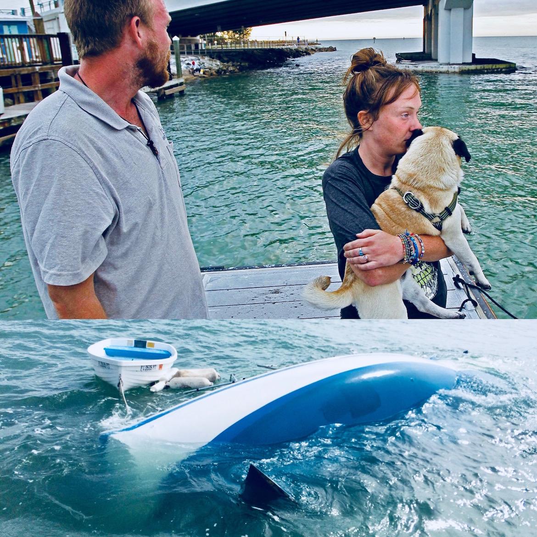 La pareja espera recaudar los USD 10.000 necesarios para poder rescatar la embarcación y recuperar su hogar