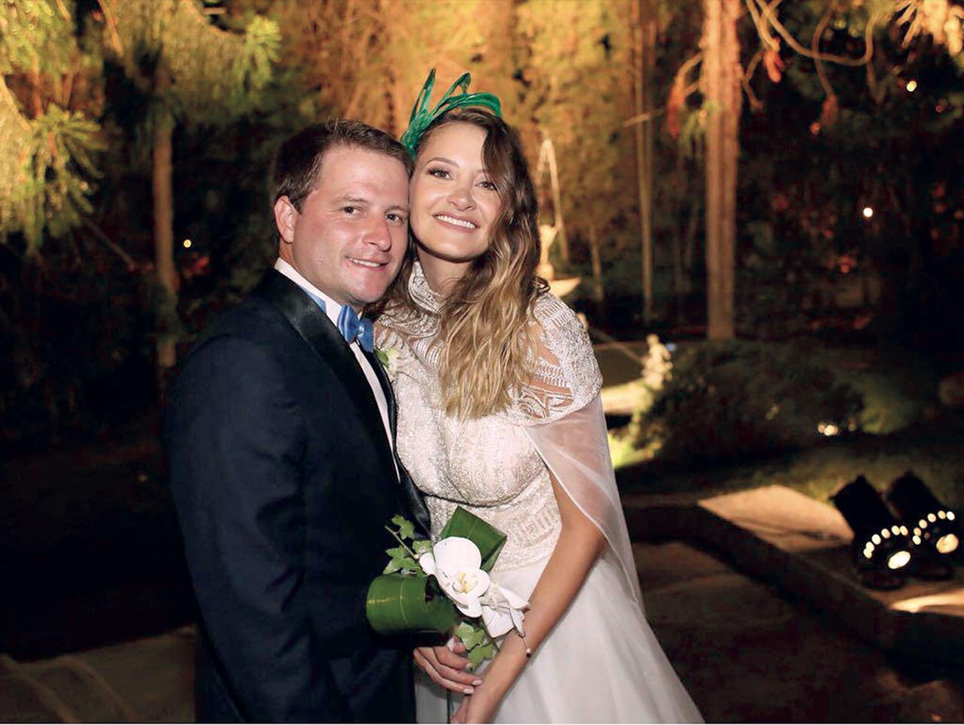 Flamantes marido y mujer. (Foto Marcelo Espinosa/GENTE)