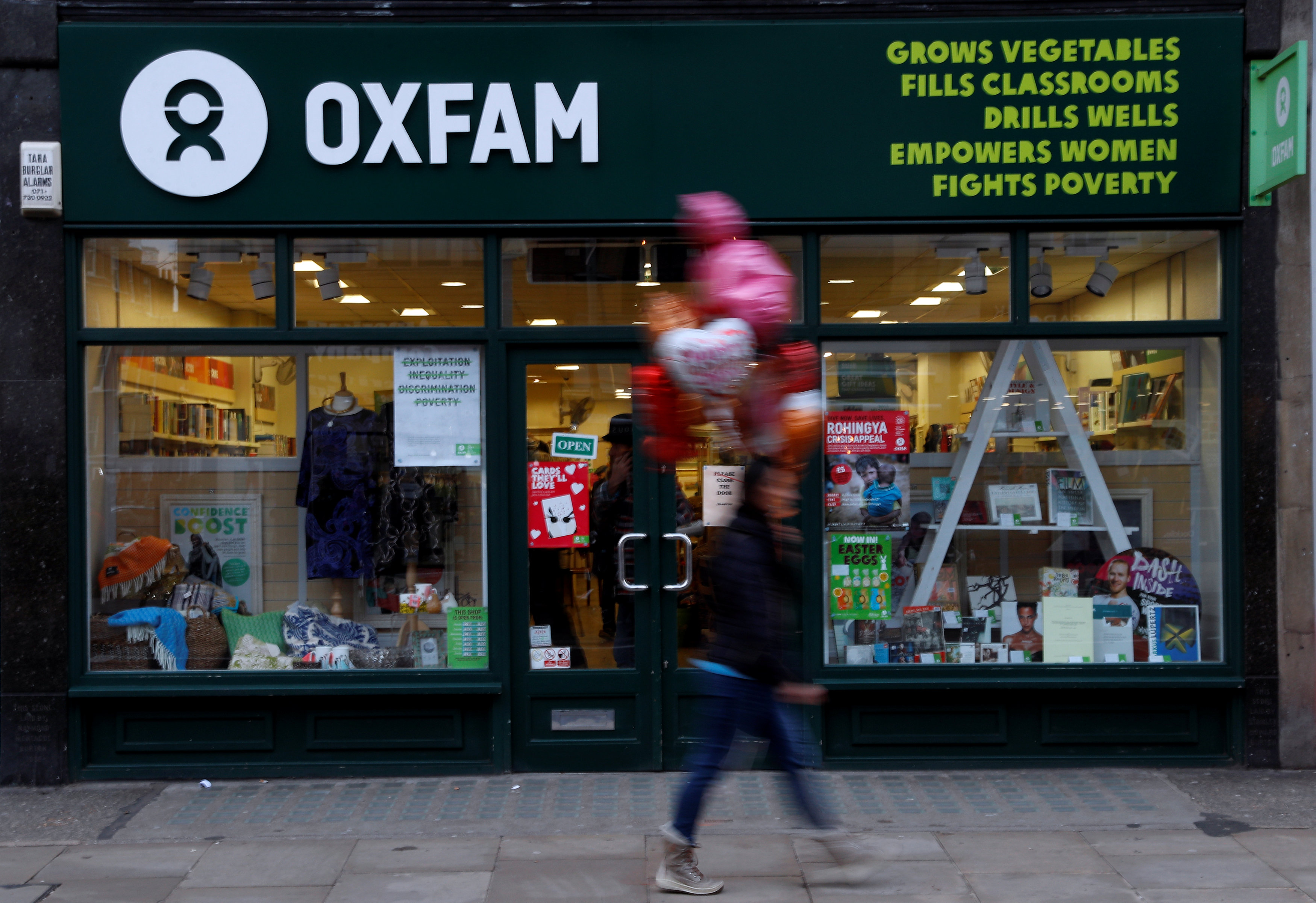Una oficina de Oxfam en London. (REUTERS/Peter Nicholls)