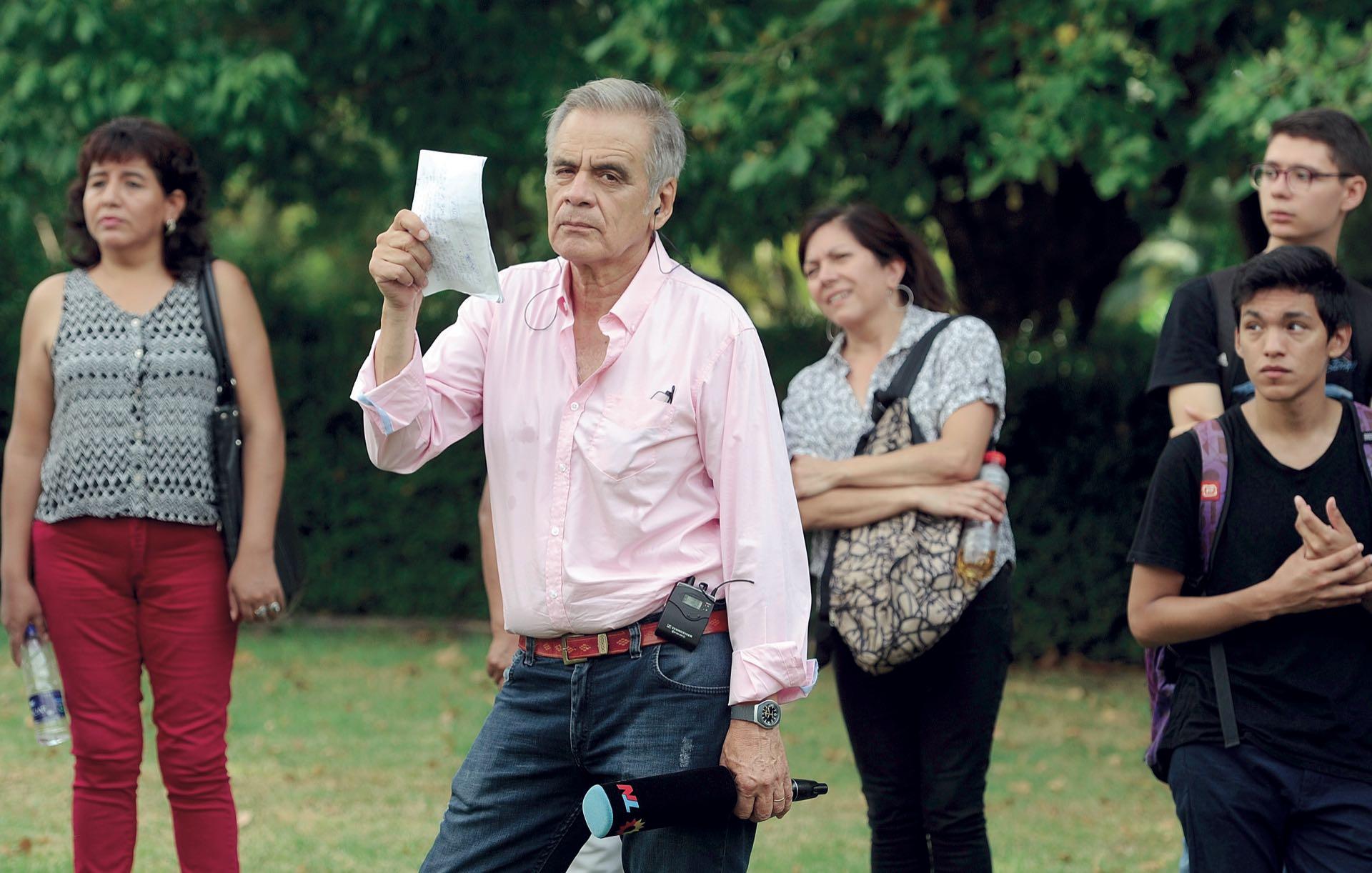 Julio Bazán cubrió la despedida (Fotos: Enrique García Medina y Maxi Vernazza/GENTE)