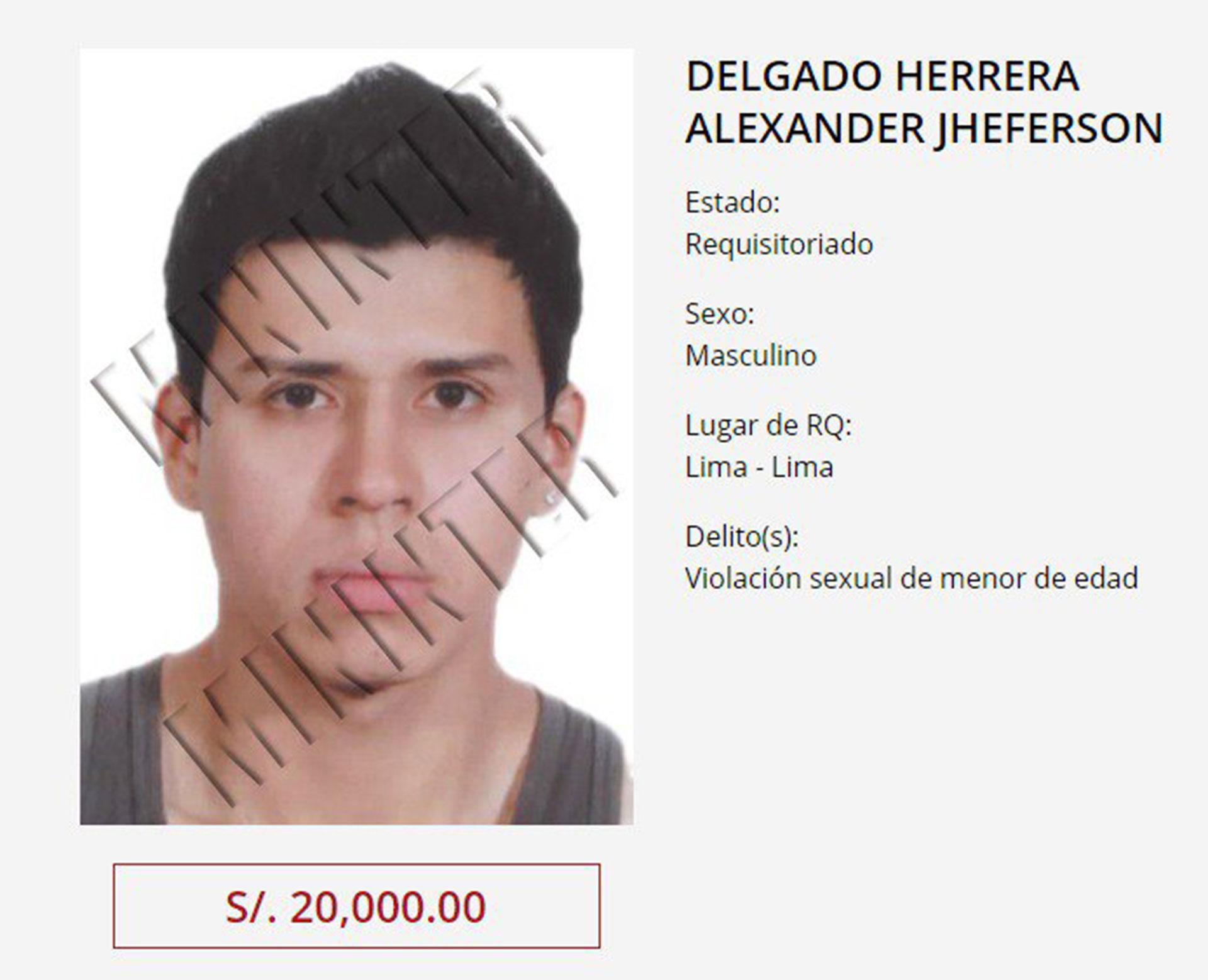 La ficha de Delgado Herrera y la recompensa que se ofrecía por su captura