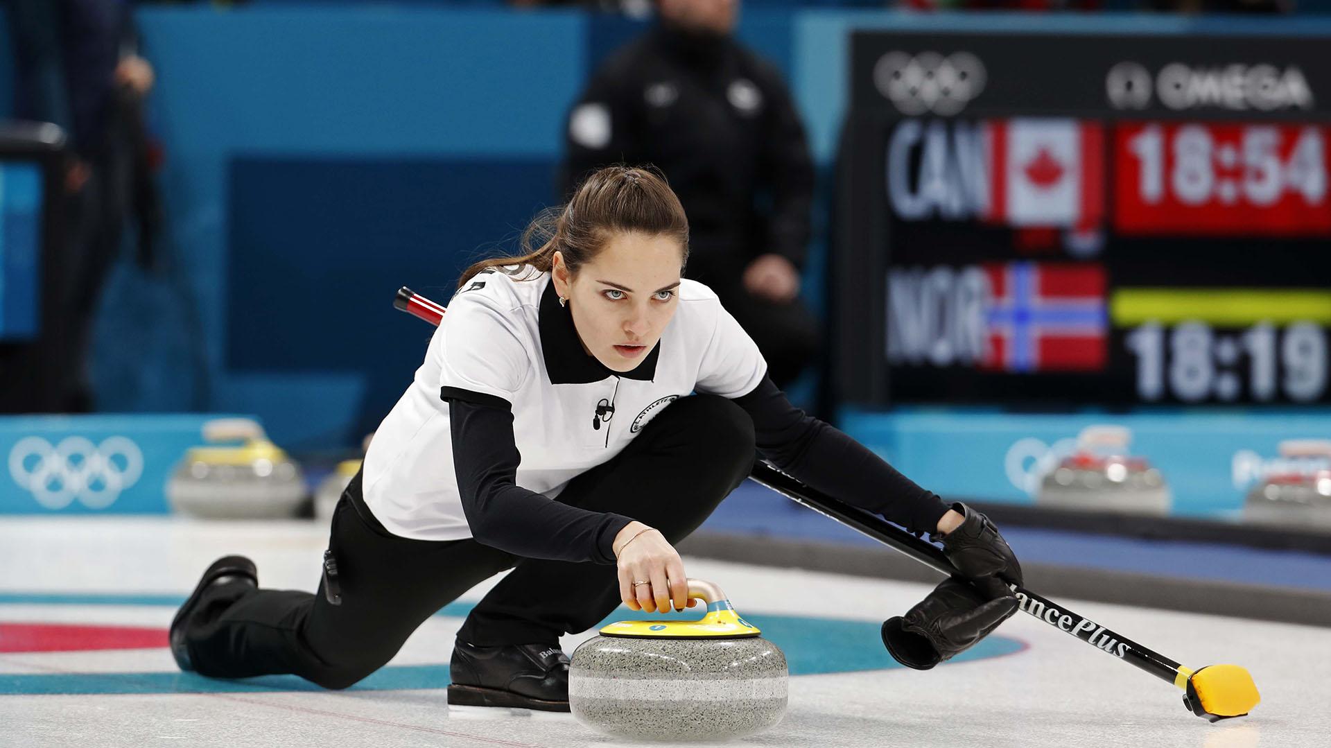 Anastasia Bryzgalova ganó la medalla de bronce en curling en los Juegos Olímpicos de Invierno de 2018 (Reuters)