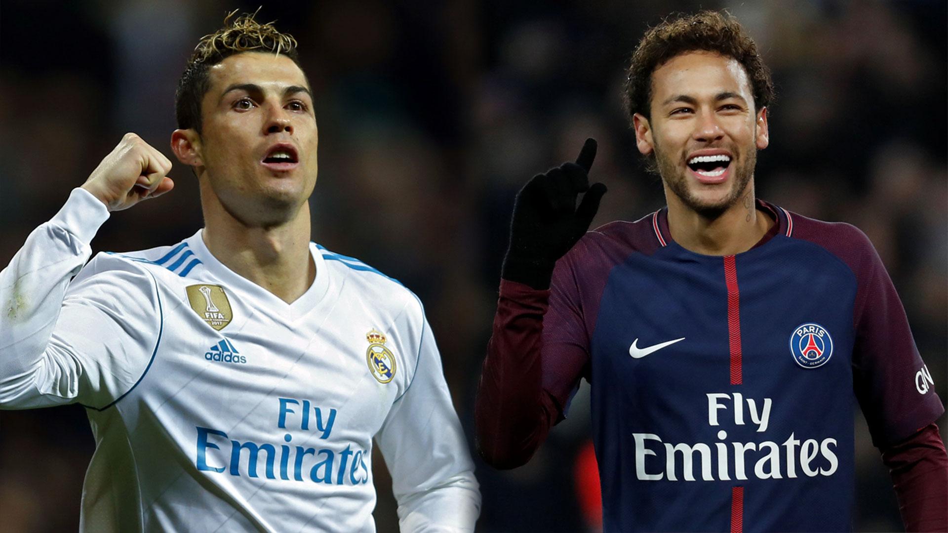 Cristiano Ronaldo y Neymar son las máximas figuras del Real Madrid y el Paris Saint Germain, rivales en los octavos de final de la Champions League (AP)