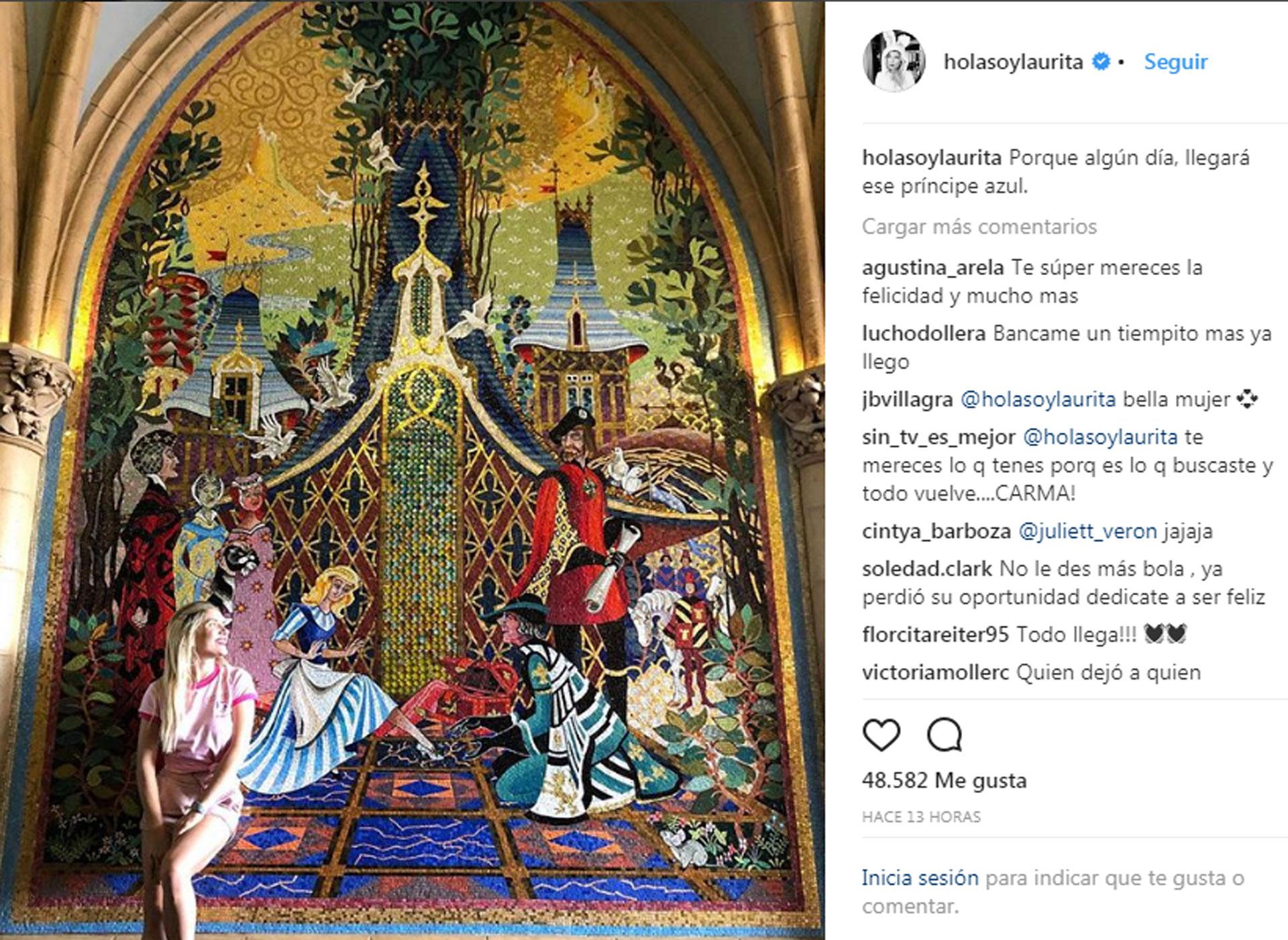 El posteo de Laurita. (Foto: Instagram)
