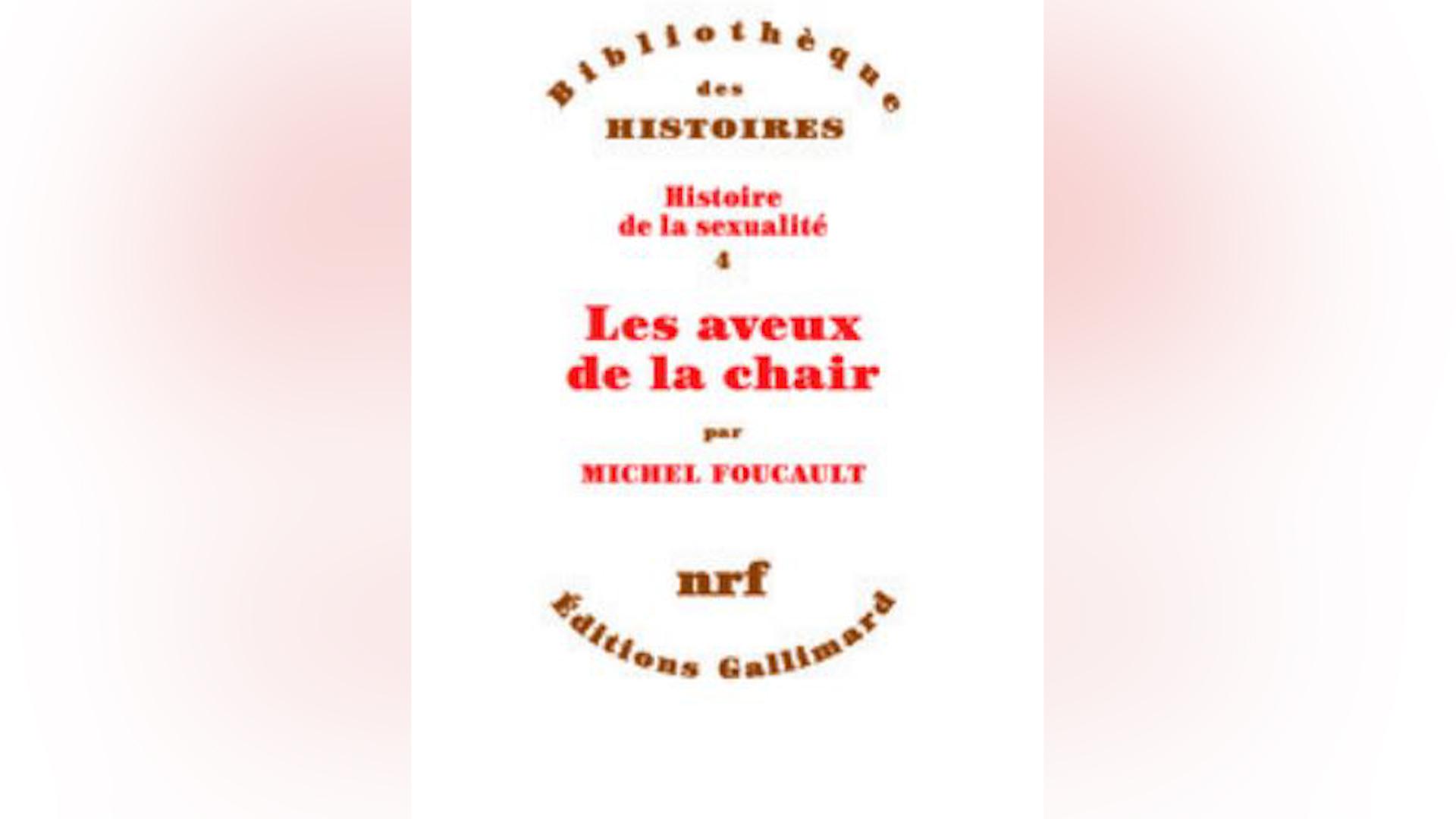 """Primera portada de """"Las confesiones de la carne"""" de Michel Foucault"""