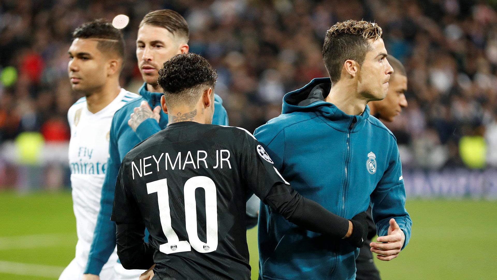 El primer duelo entre Neymar y Cristiano Ronaldo lo ganó el portugués (Reuters)