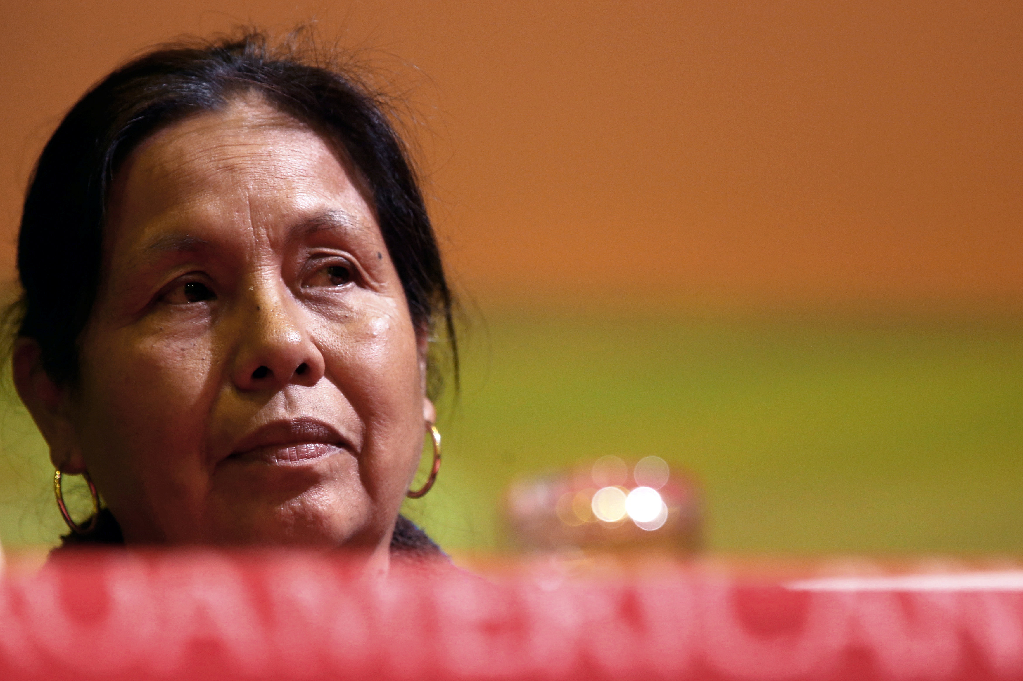 La candidata indígena Maria de Jesus Patricio, 'Marichuy' durante un encuentro con estudiantes en Ciudad de México(REUTERS/Edgard Garrido)