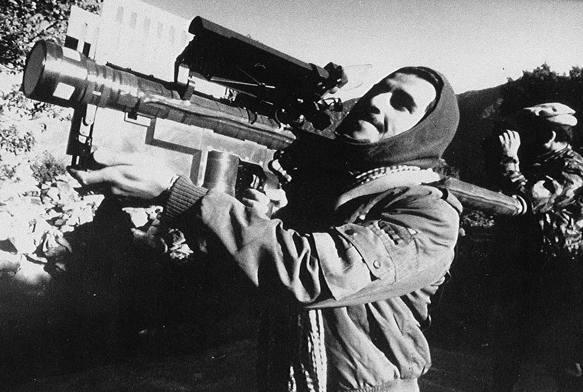 Un ícono de la guerra: el misil antiaéreo guiado por calor Stinger que los servicios de inteligencia de Estados Unidos proveyeron a los muyahidines. Esta arma les permitió derribar numerosas aeronaves militares soviéticas, especialmente helicópteros