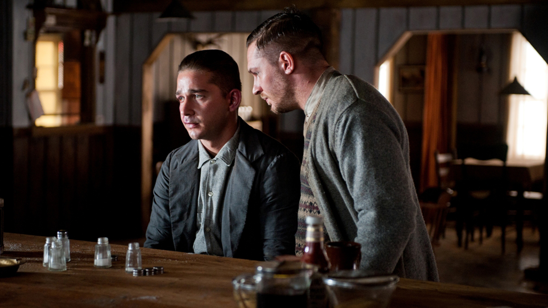 "Shia LaBeouf y Tom Hardy en ""Lawless"""
