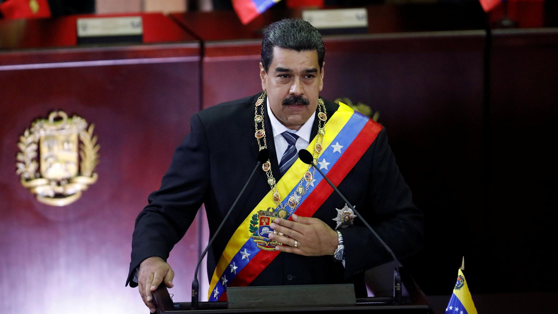 Nicolas Maduro durante una sesion en la Corte Suprema de Justicia en Caracas, febrero 2018. (REUTERS/Marco Bello)