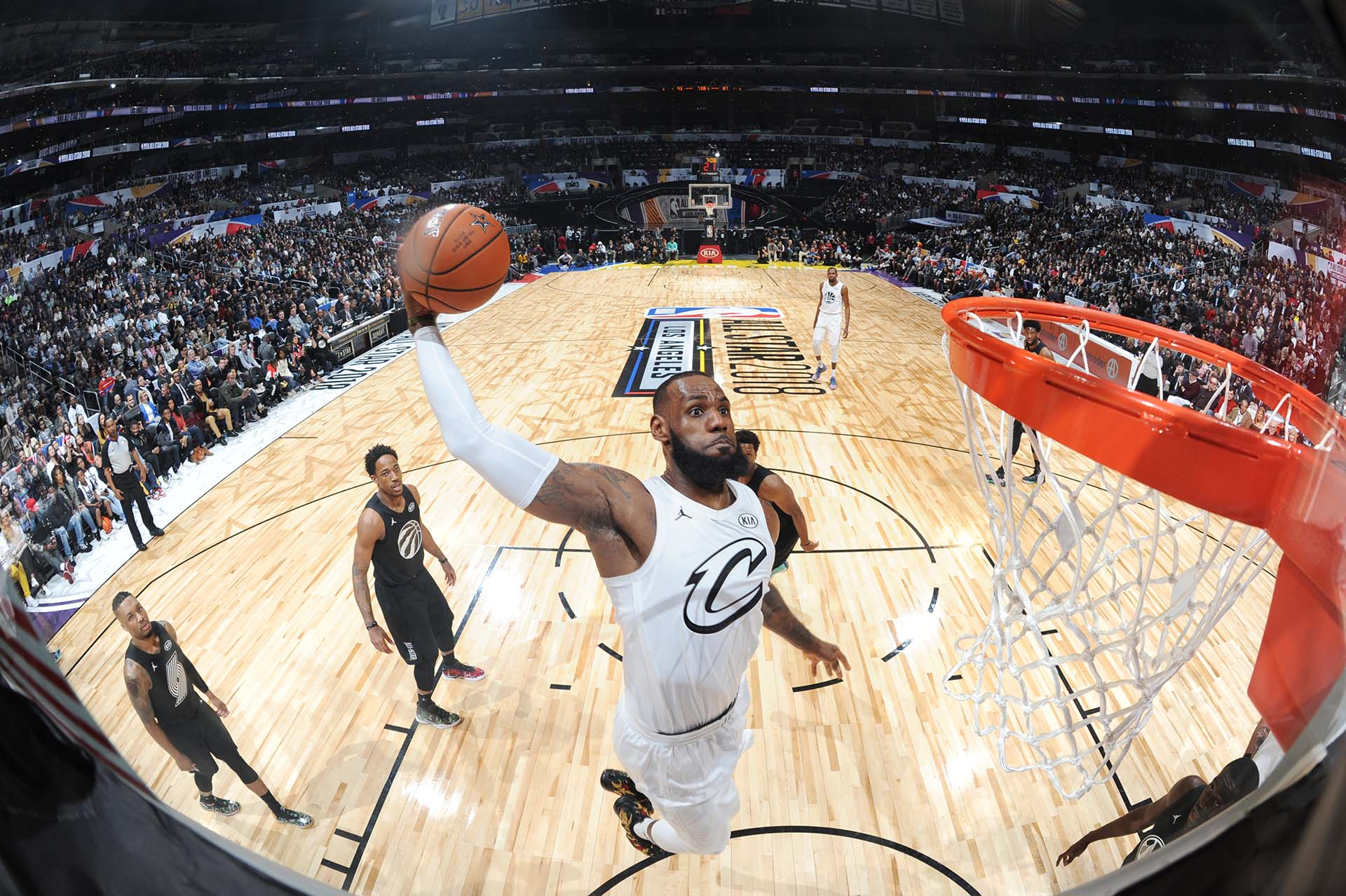 LeBron James, la figura del partido