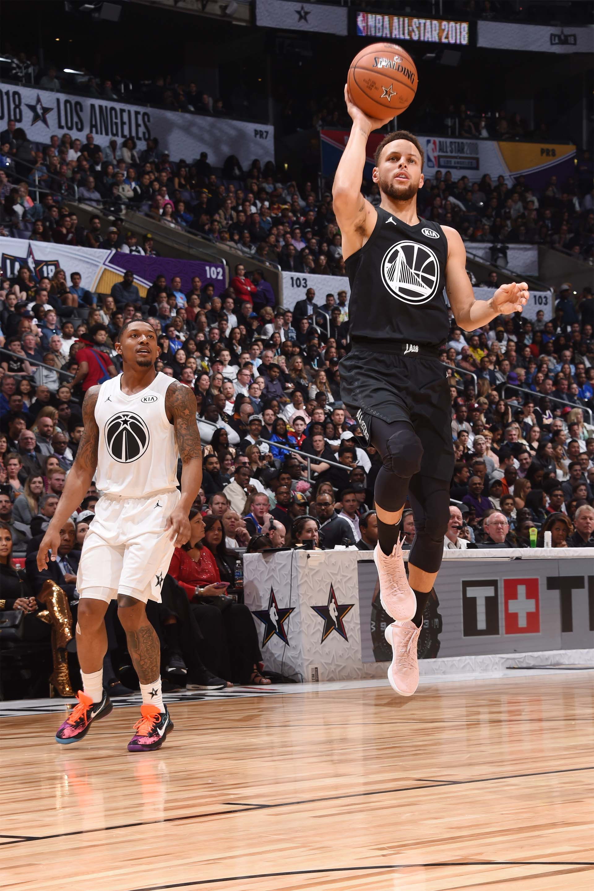 Stephen Curry, capitán de su equipo en el All Star Game NBA 2018