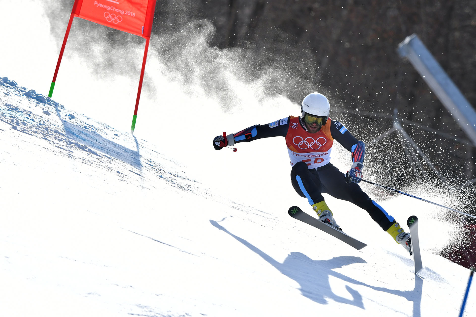 El argentino Sebastiano Gastaldi es el representante argentino que compite en Giant Slalom