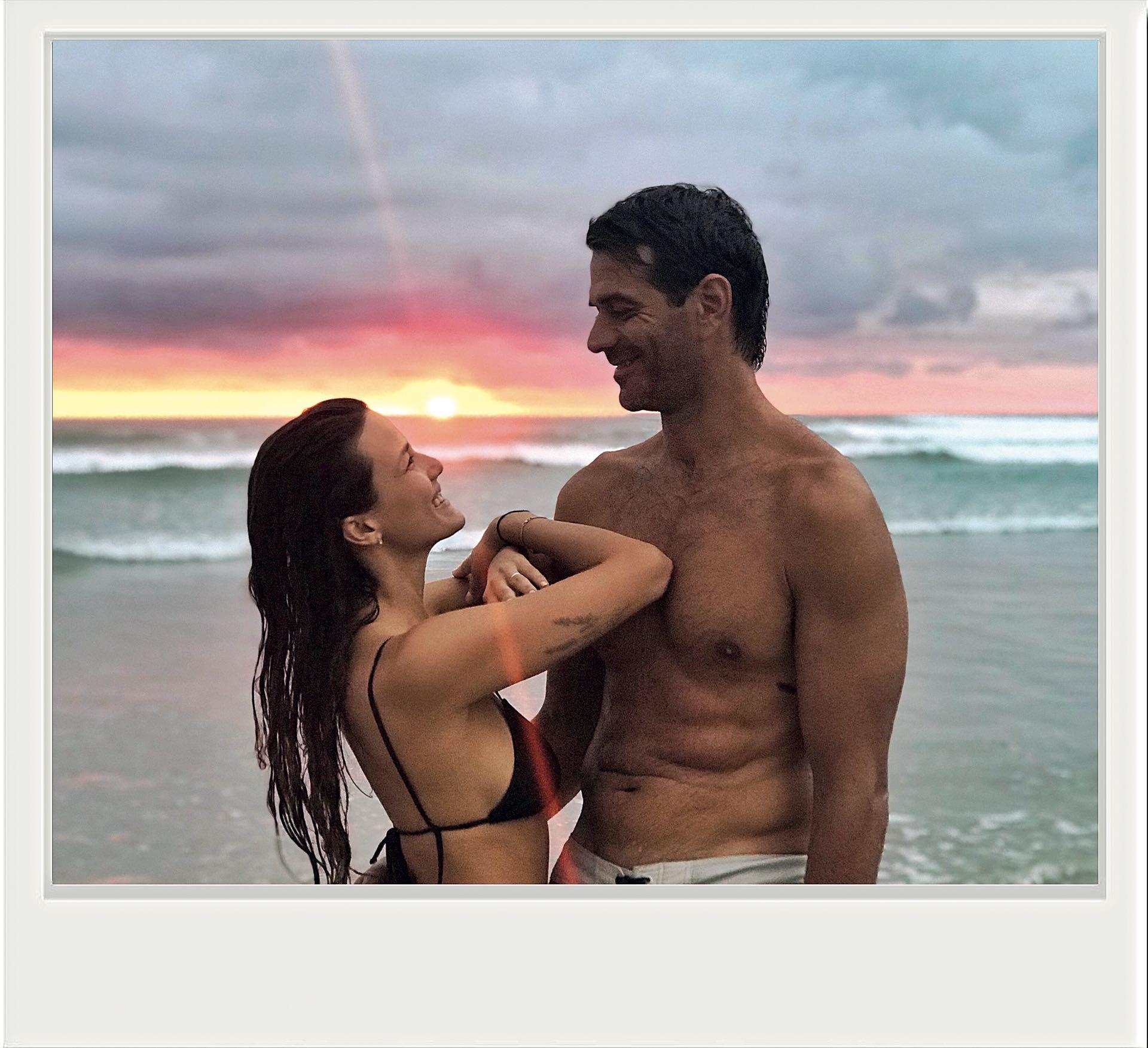 Las vacaciones fueron con su esposo Cristian Cúneo Libarona y los hijos de él, familia ensamblada.(Fotos: @CamposLolita)