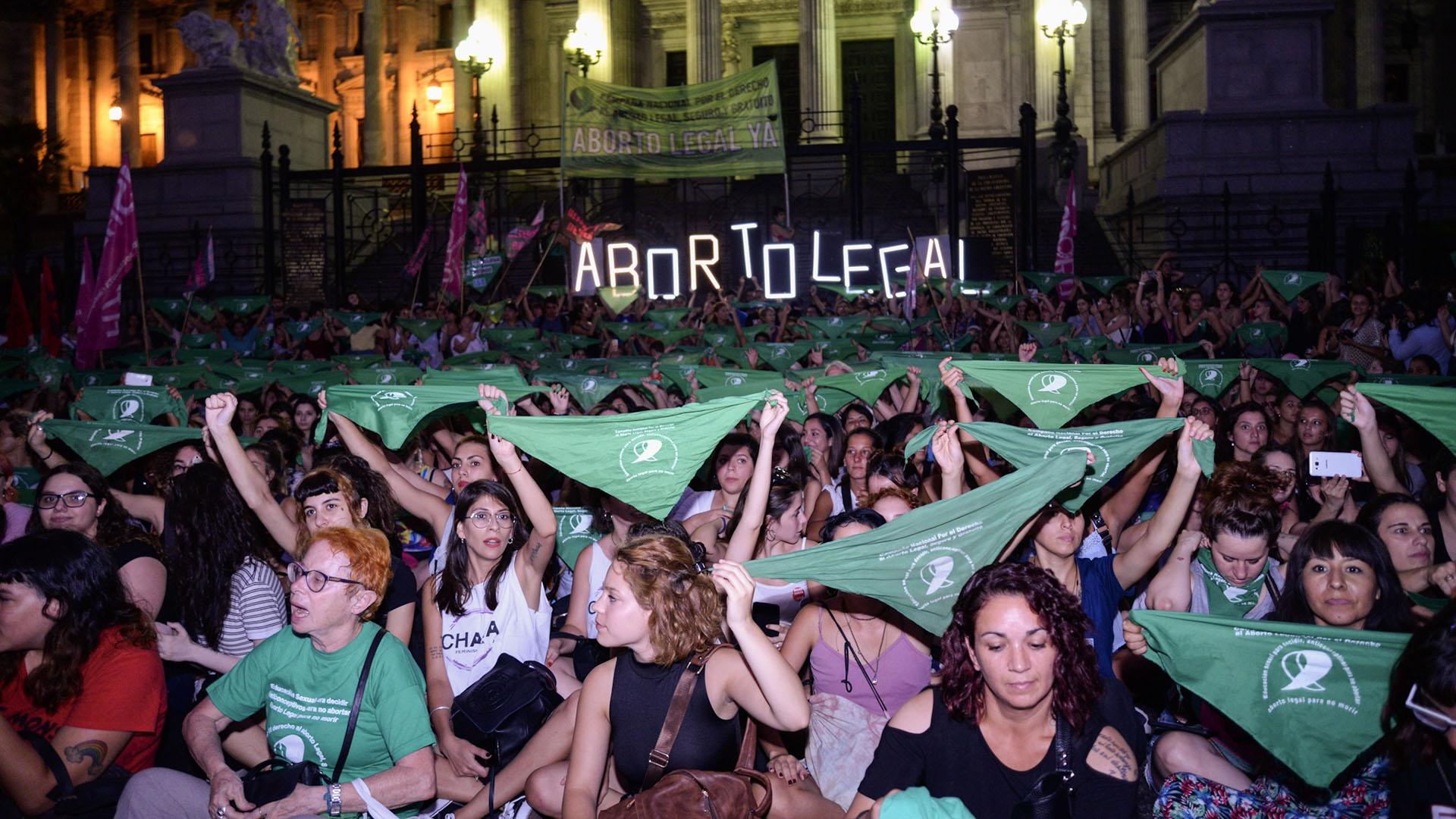 Postal de la última marcha en favor de la legalización del aborto (Julieta Ferrario)