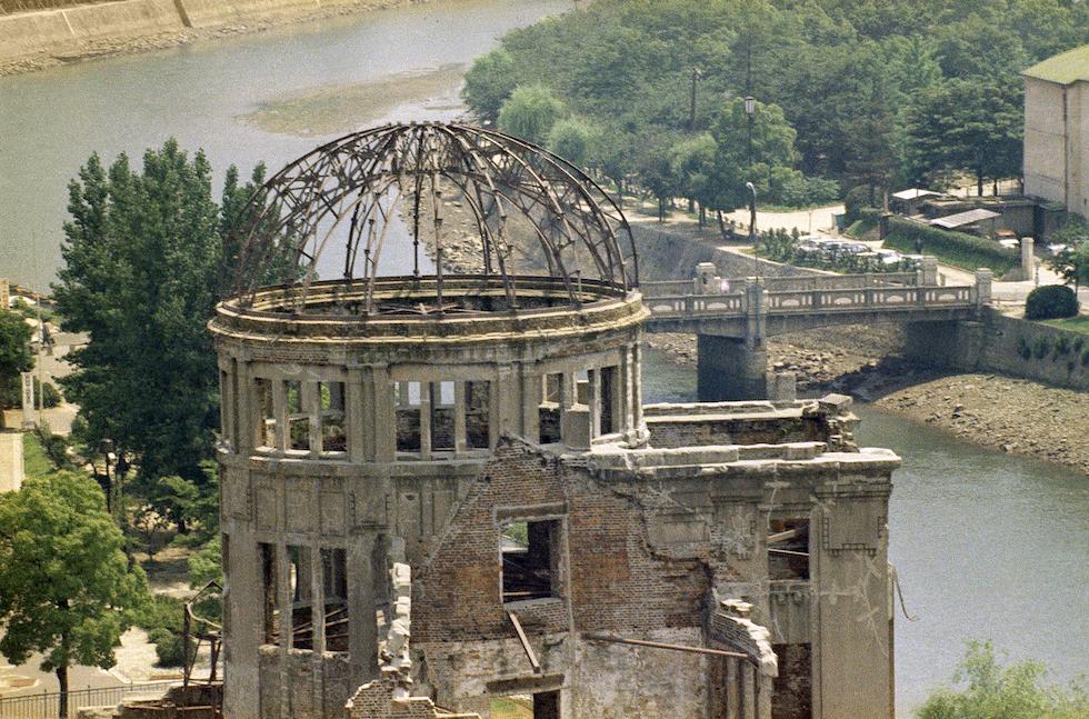 Hiroshima fotografiada en 1970, 25 años después del lanzamiento de la bomba atómica(AP Foto/Max Desfor)