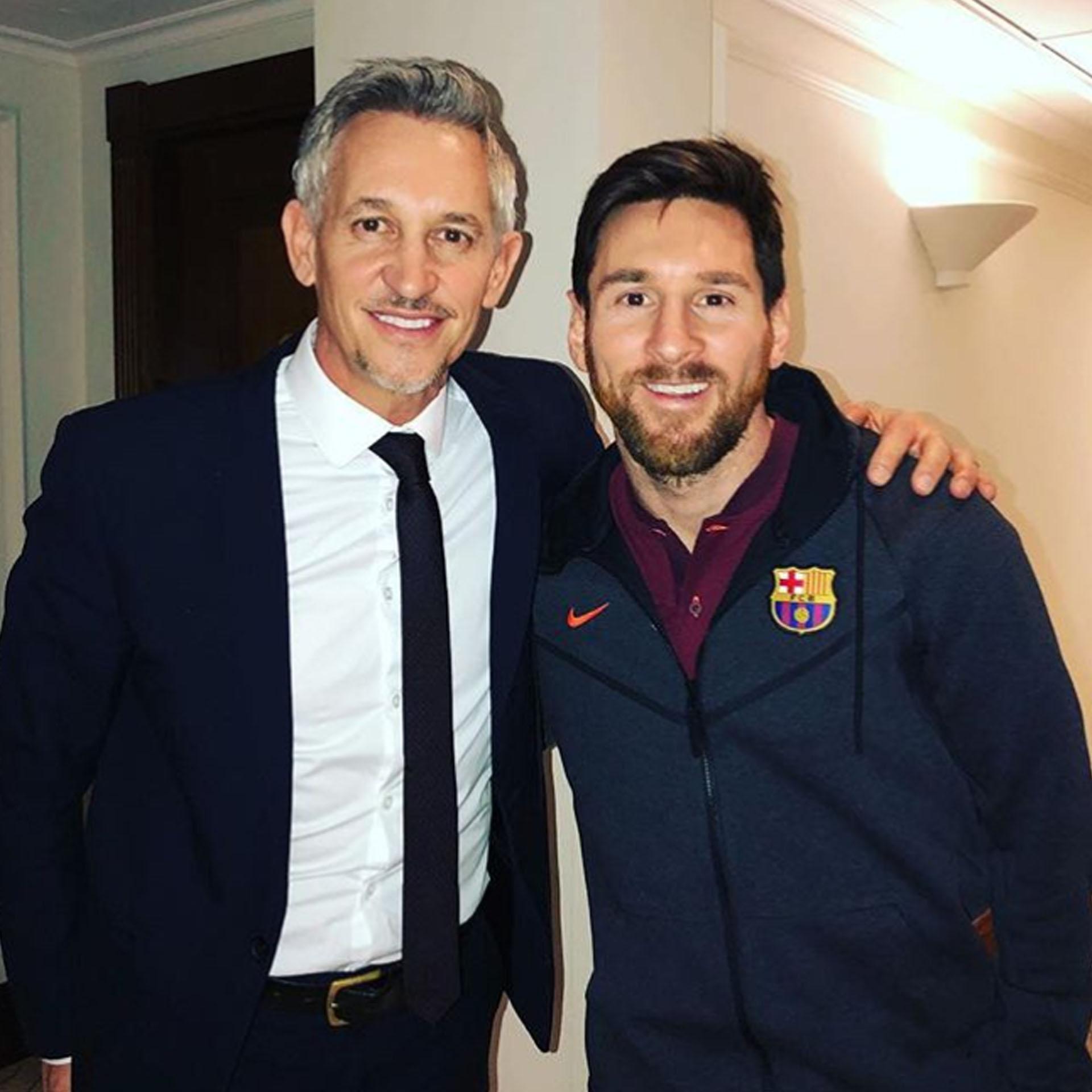 Gary Lineker cumplió su sueño de conocer a Lionel Messi (@garylineker)