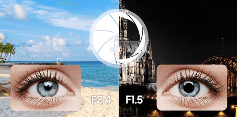 La cámara principal incluirá apertura focal variable de 1,5 y 2,4