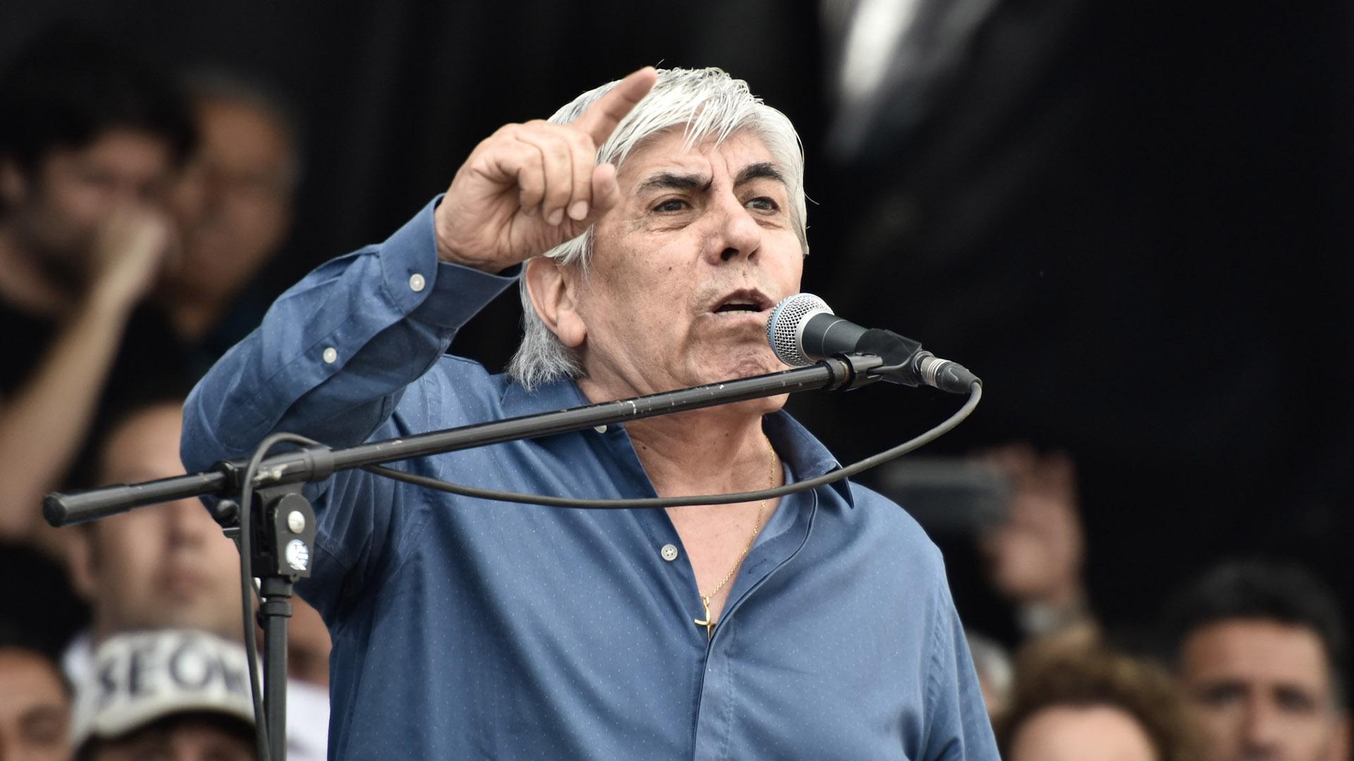 Hugo Moyano está siendo investigado en una trama de lavado de dinero en el club Independiente, el cual preside. (Adrián Escandar)