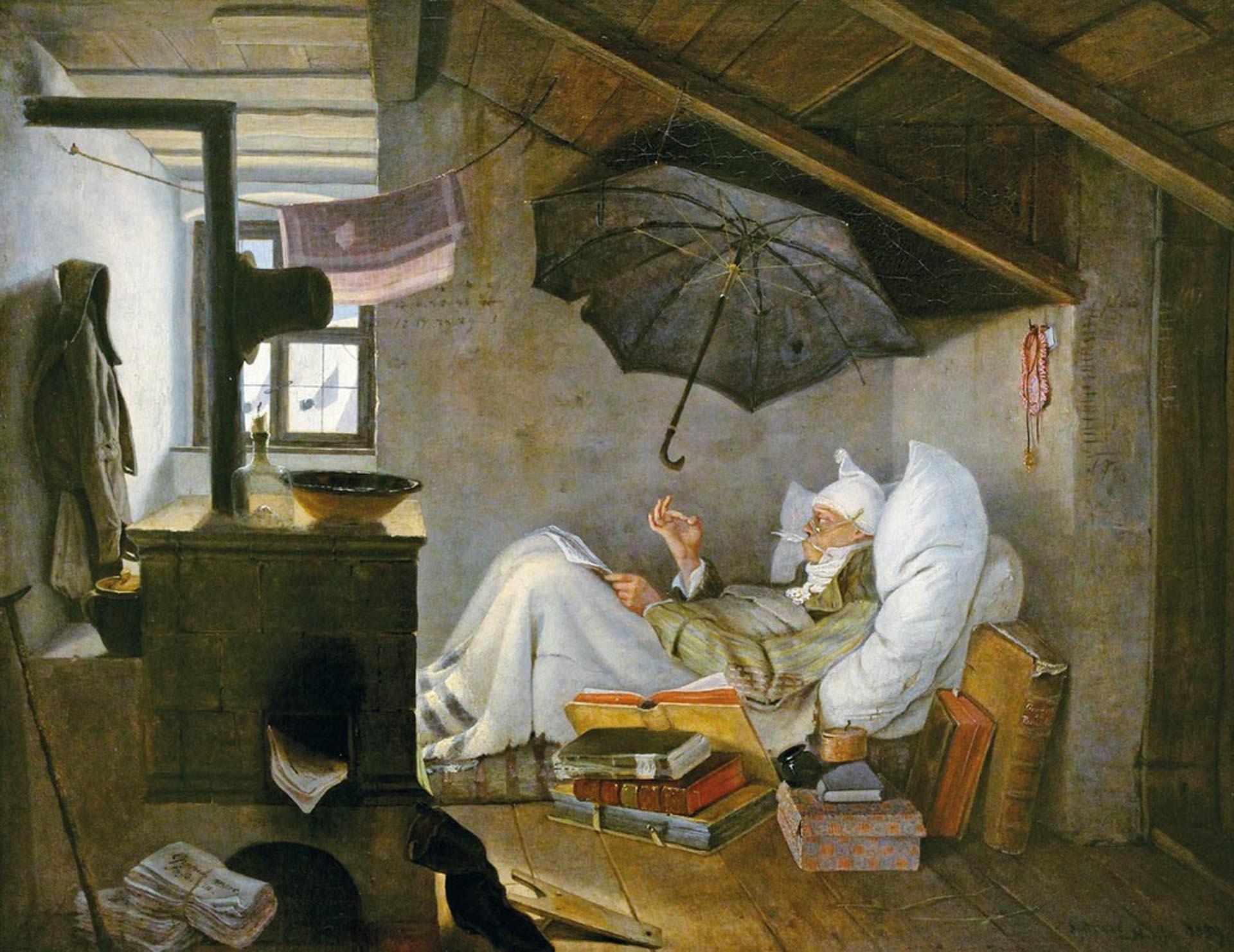 """""""El poeta pobre"""", de Carl Spitzwegs"""