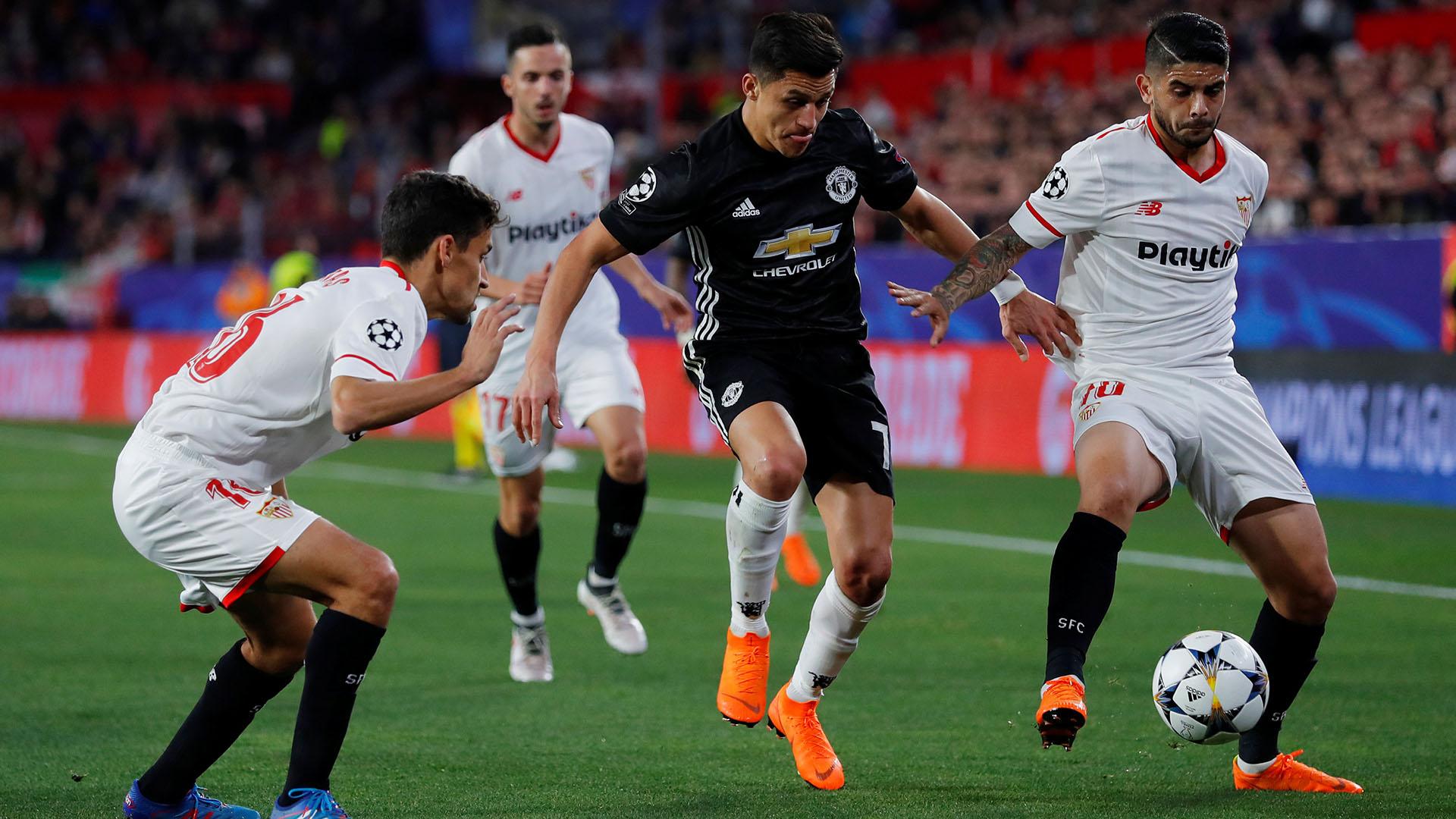 Alta tensión en Manchester para United-Sevilla (REUTERS)