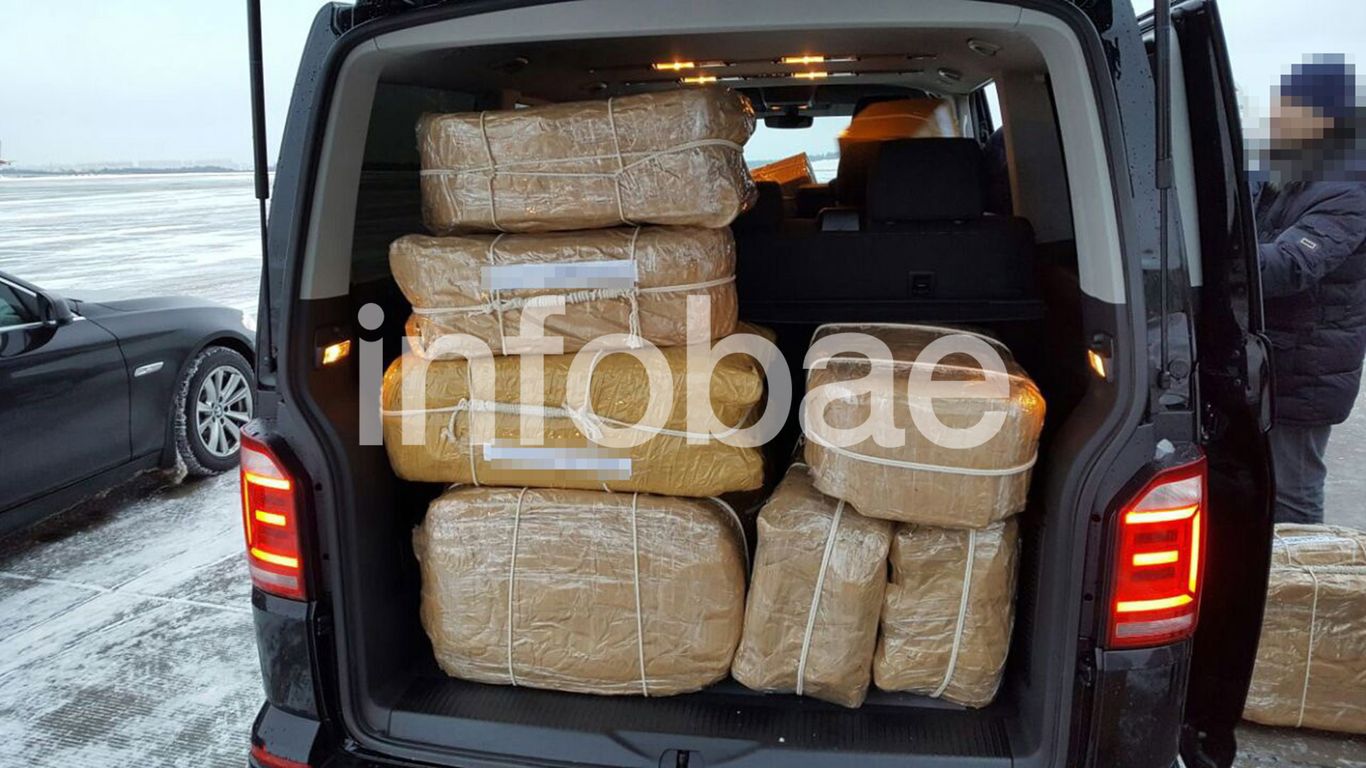 Unas de las valijas donde estaba alojada la droga.