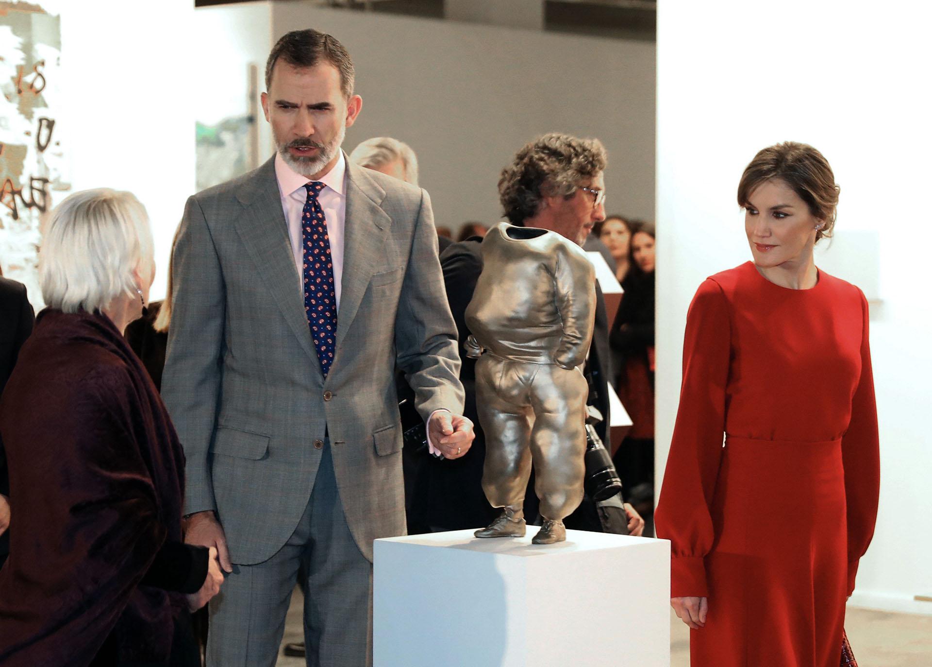 Los reyes Felipe y Sofía a la apertura oficial de una nueva edición de la Feria Internacional de Arte Contemporáneo ARCO 2018, en la que exhiben sus obras 208 galerías de 29 países