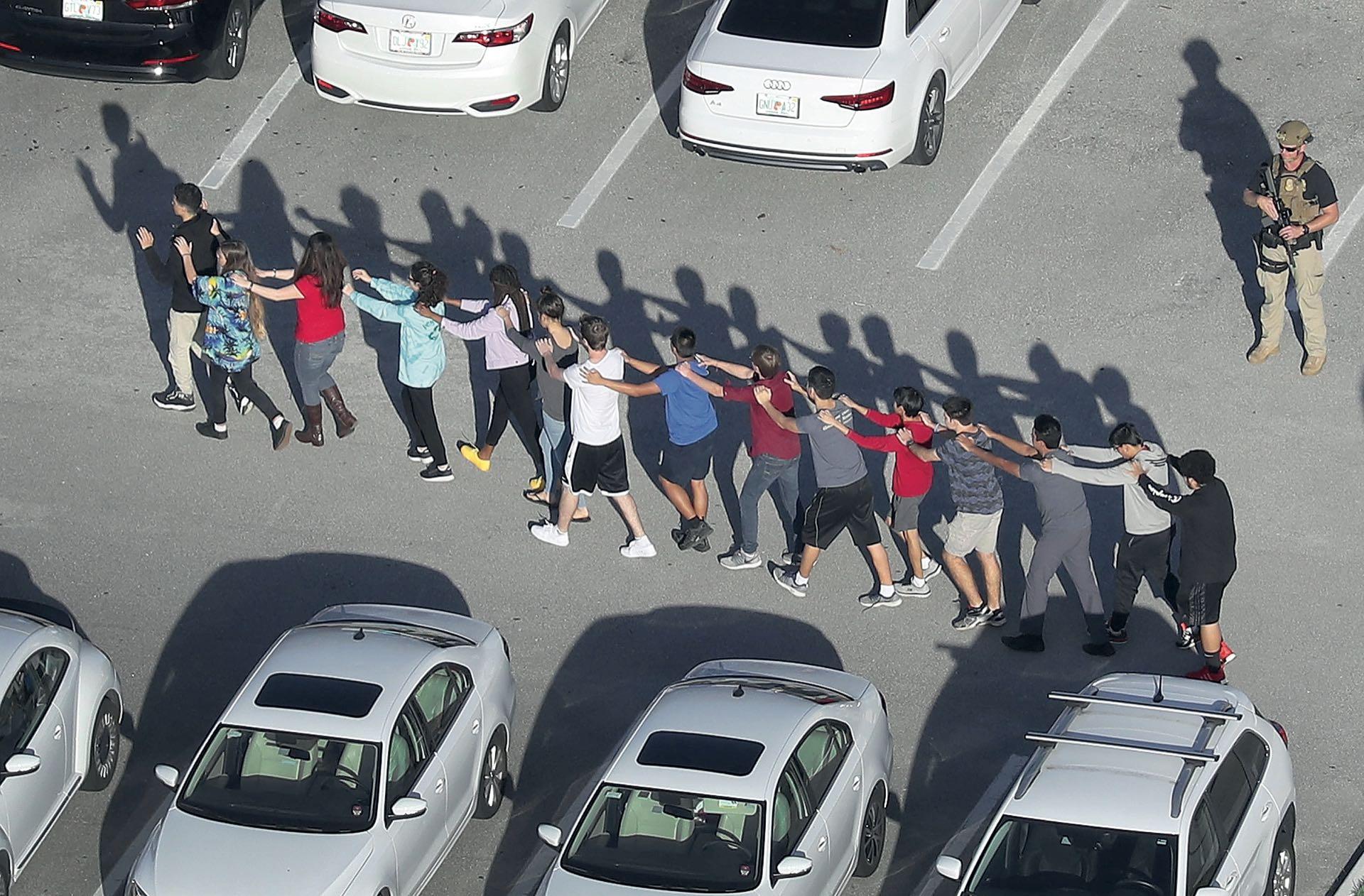 Imágenes de la evacuación.