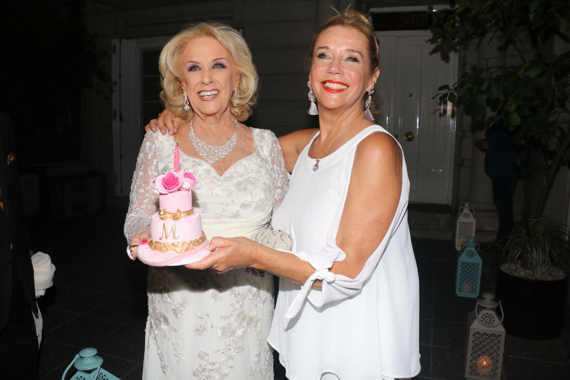 Mirtha junto a su hija, Marcela Tinayre