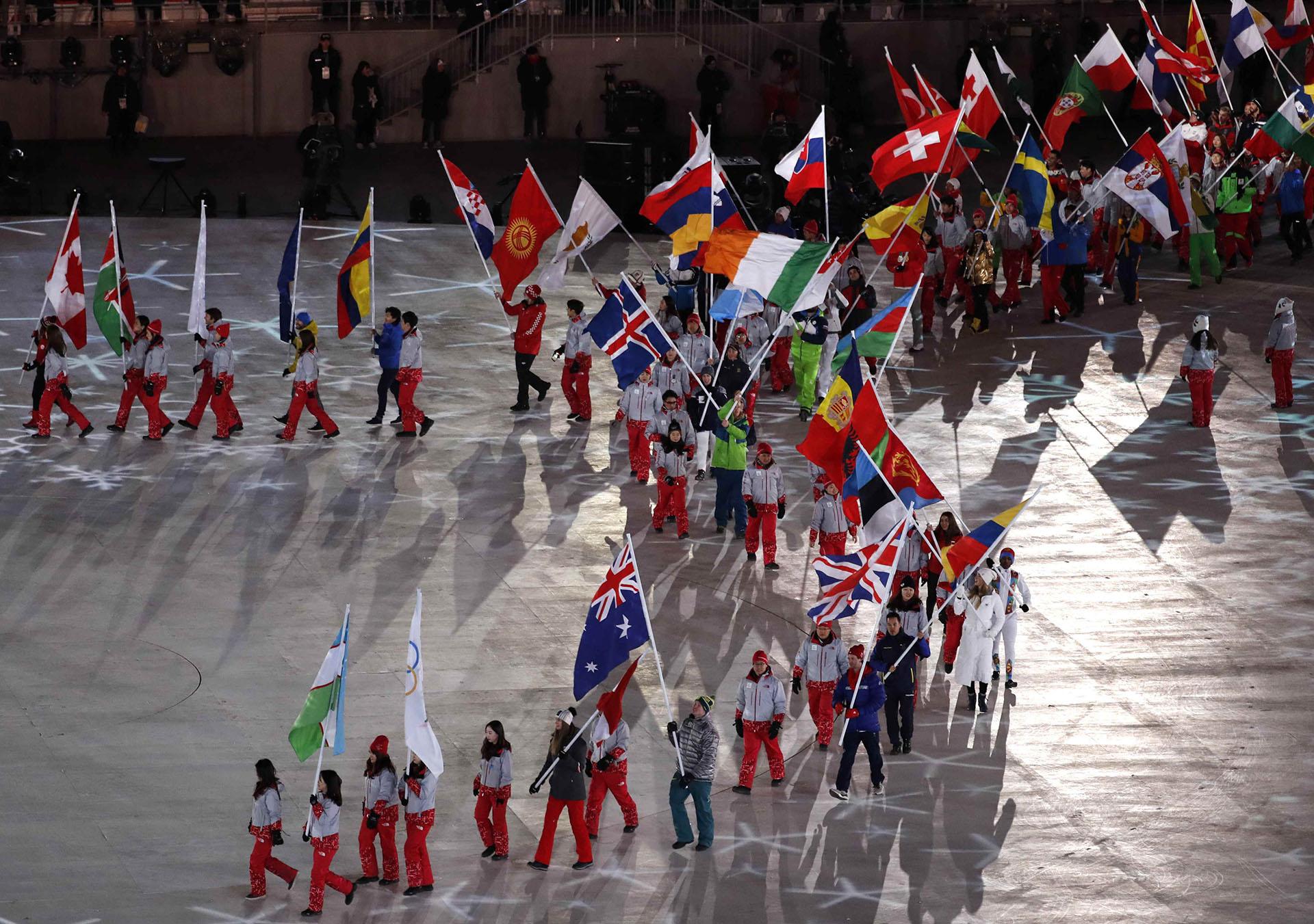 Sólo 28 naciones sumaron medallas, además del equipo olímpico ruso