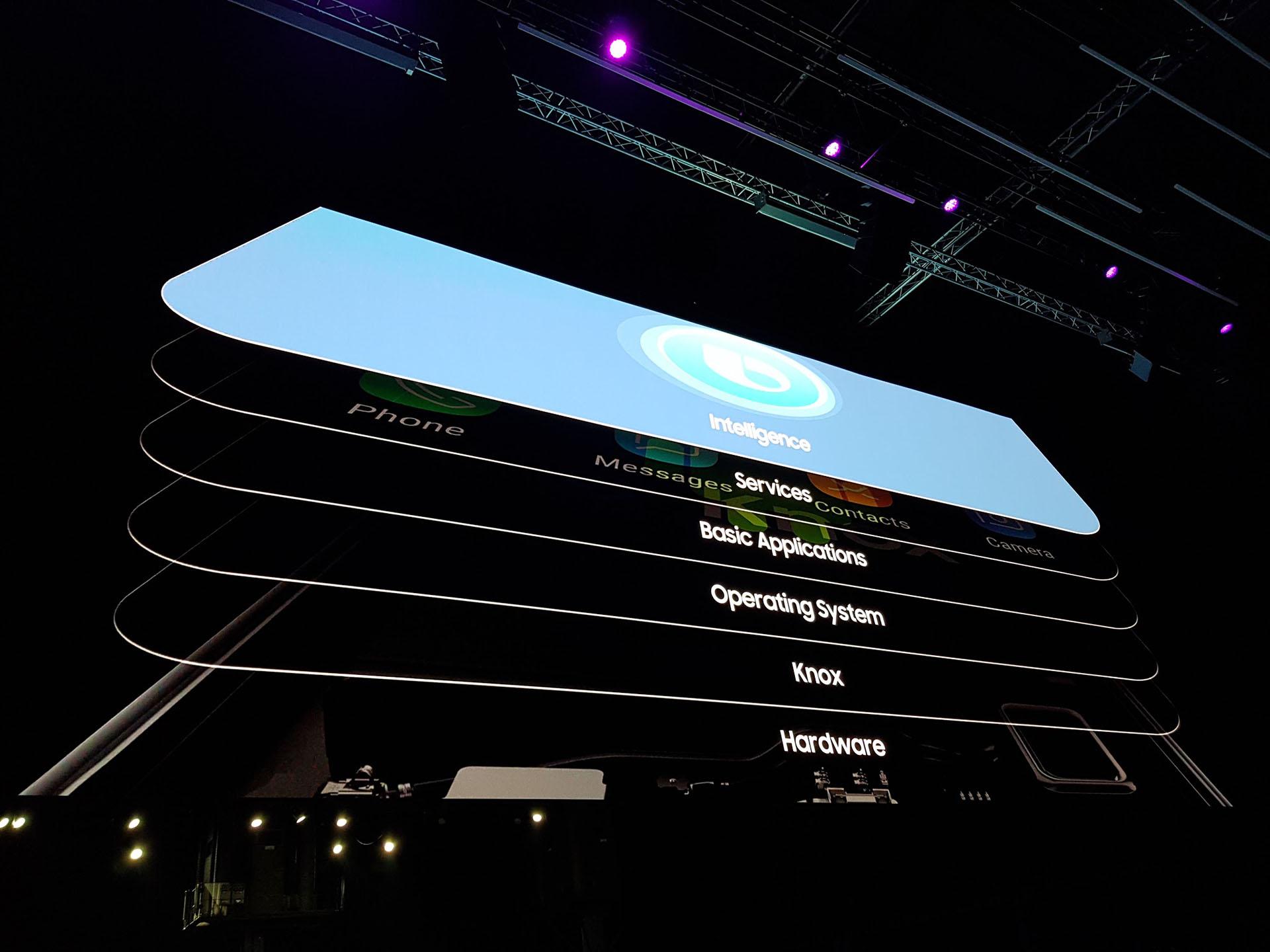 Con los nuevos productos de Samsung se podrá grabar videos en súper cámara lenta (960 fotogramas por segundo). El sonido es envolvente con parlantes estéreo sintonizados por AKG y los smartphones son compatibles con la nueva app SmartThings, desde donde se pueden gestionar los diferentes dispositivos conectados del hogar o la oficina