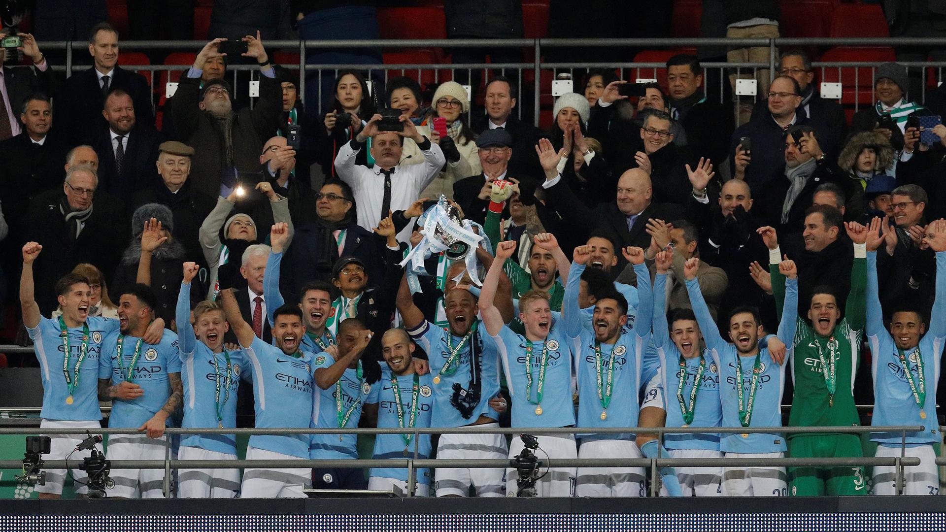 """Manchester City, campeón de la Carabao Cup, el """"primo"""" del torneo en ciernes en Argentina (Foto: Reuters)"""