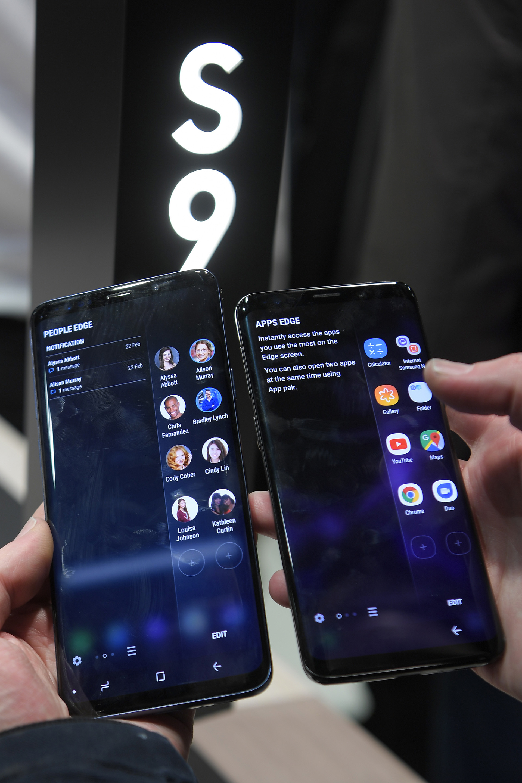 Presentación del Samsung Galaxy S9 en Barcelona (AFP)