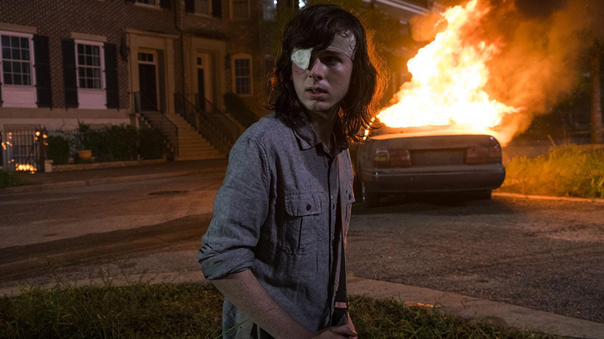 Chandler Riggs interpreta a Carl Grimes en The Walking Dead.
