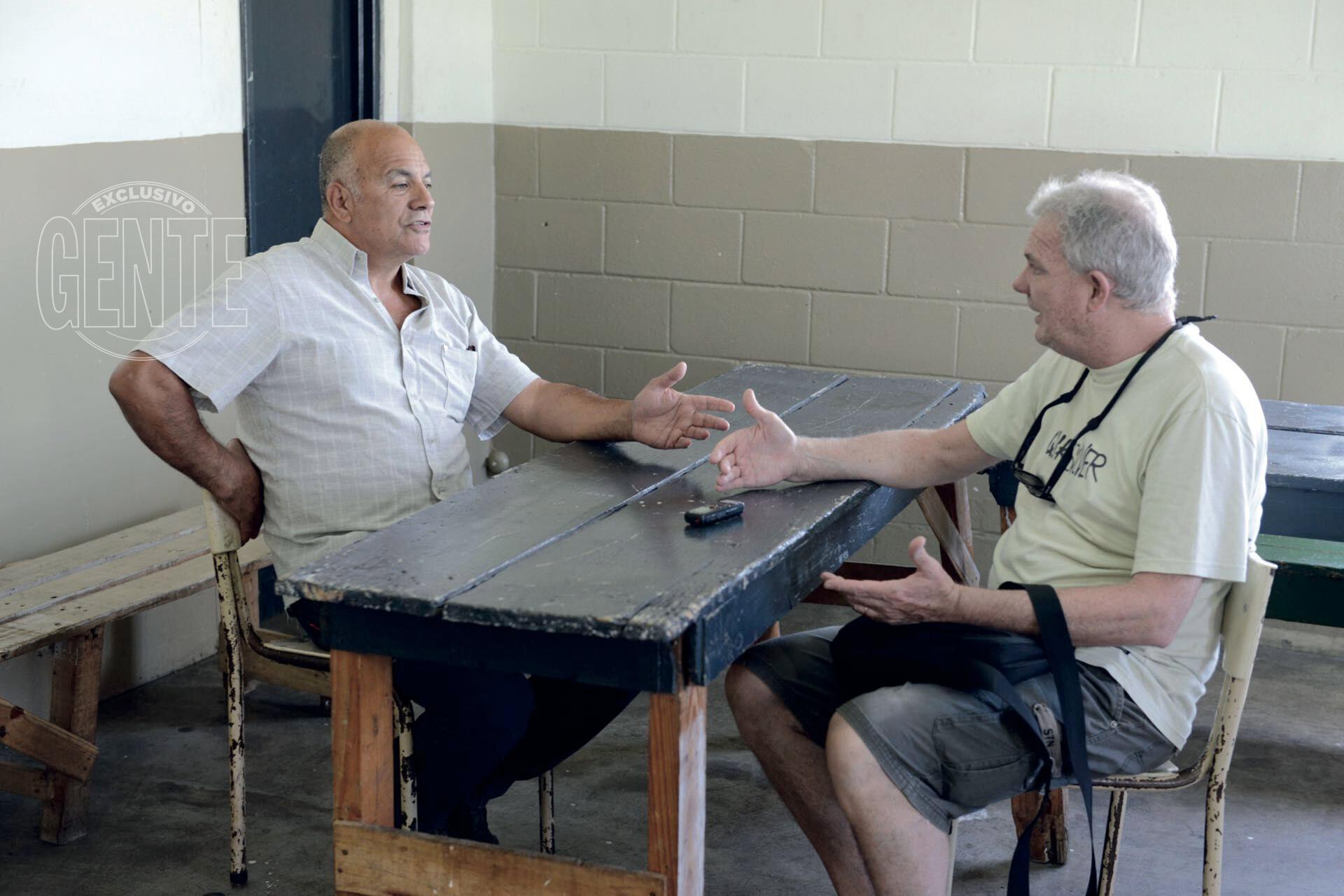 El Gordo Valor en una charla exclusiva con Miguel Braillard (Foto Maximiliano Vernazza)
