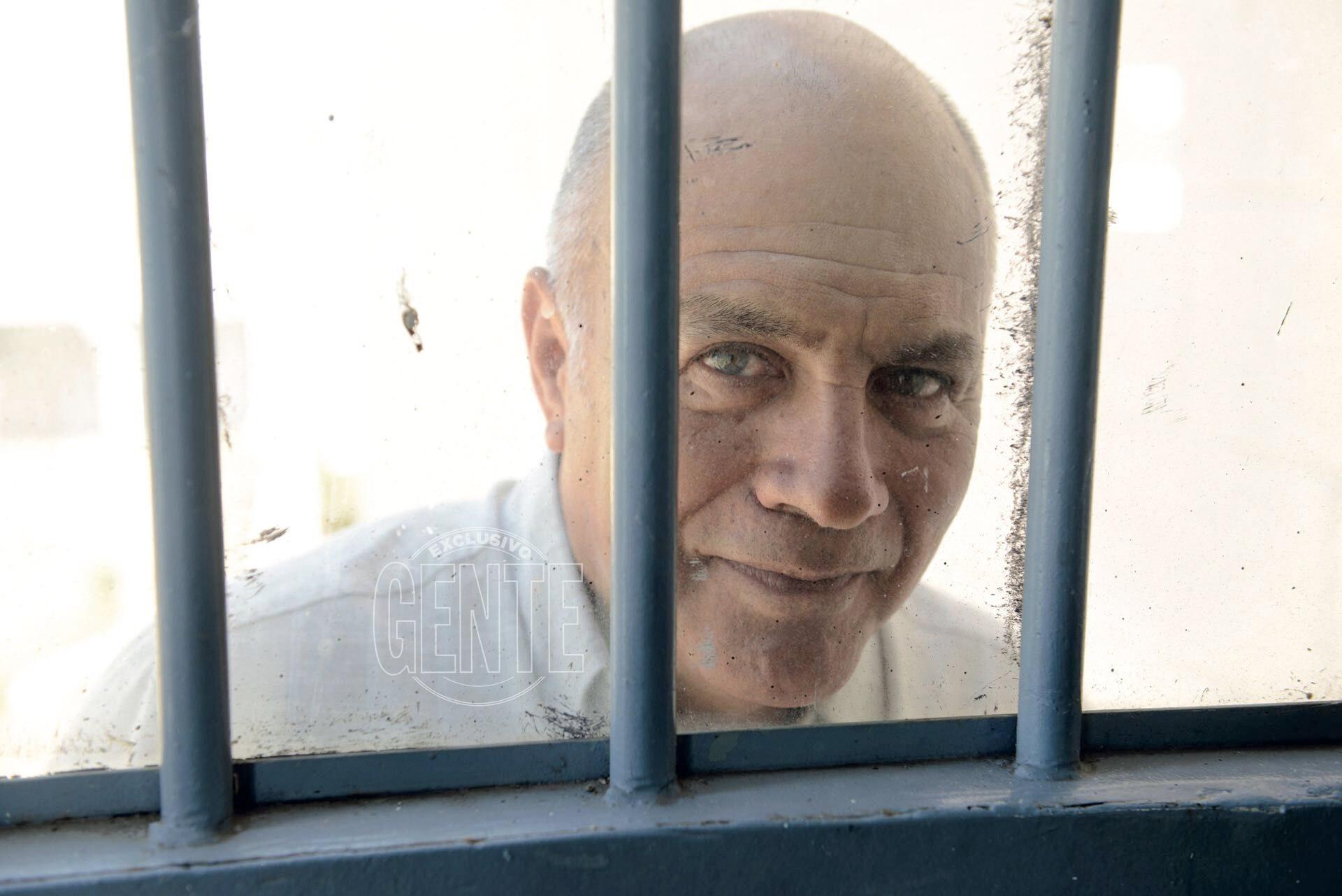 Luis Valor desde la cárcel (Foto Maximiliano Vernazza)