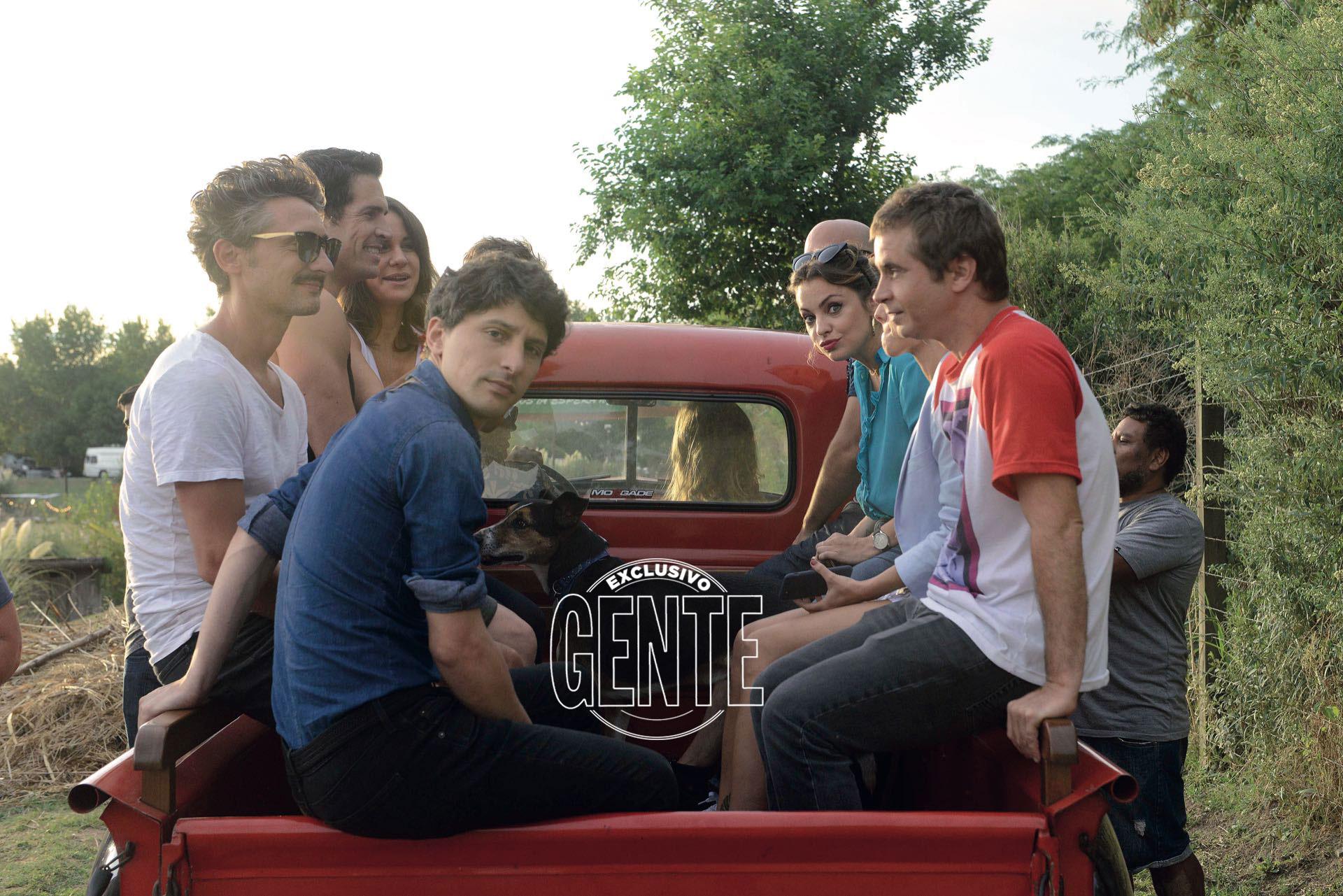 Los chicos, además, volvieron a viajar en la famosa pick up Chevrolet 3100 roja que usaron para la tira, y los recuerdos afloraron.
