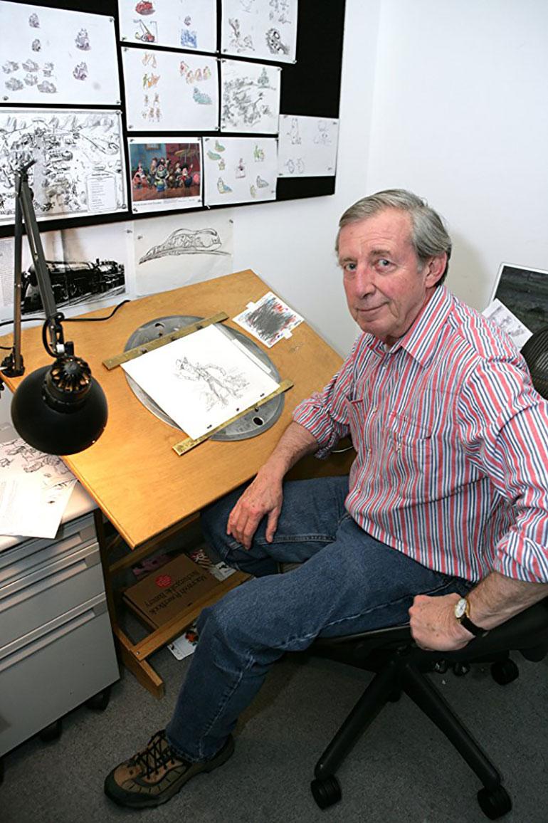 Bud Luckey es considerado uno de los héroes de Pixar por estar involucrado en la creación de las películas animadas más famosas del último tiempo.