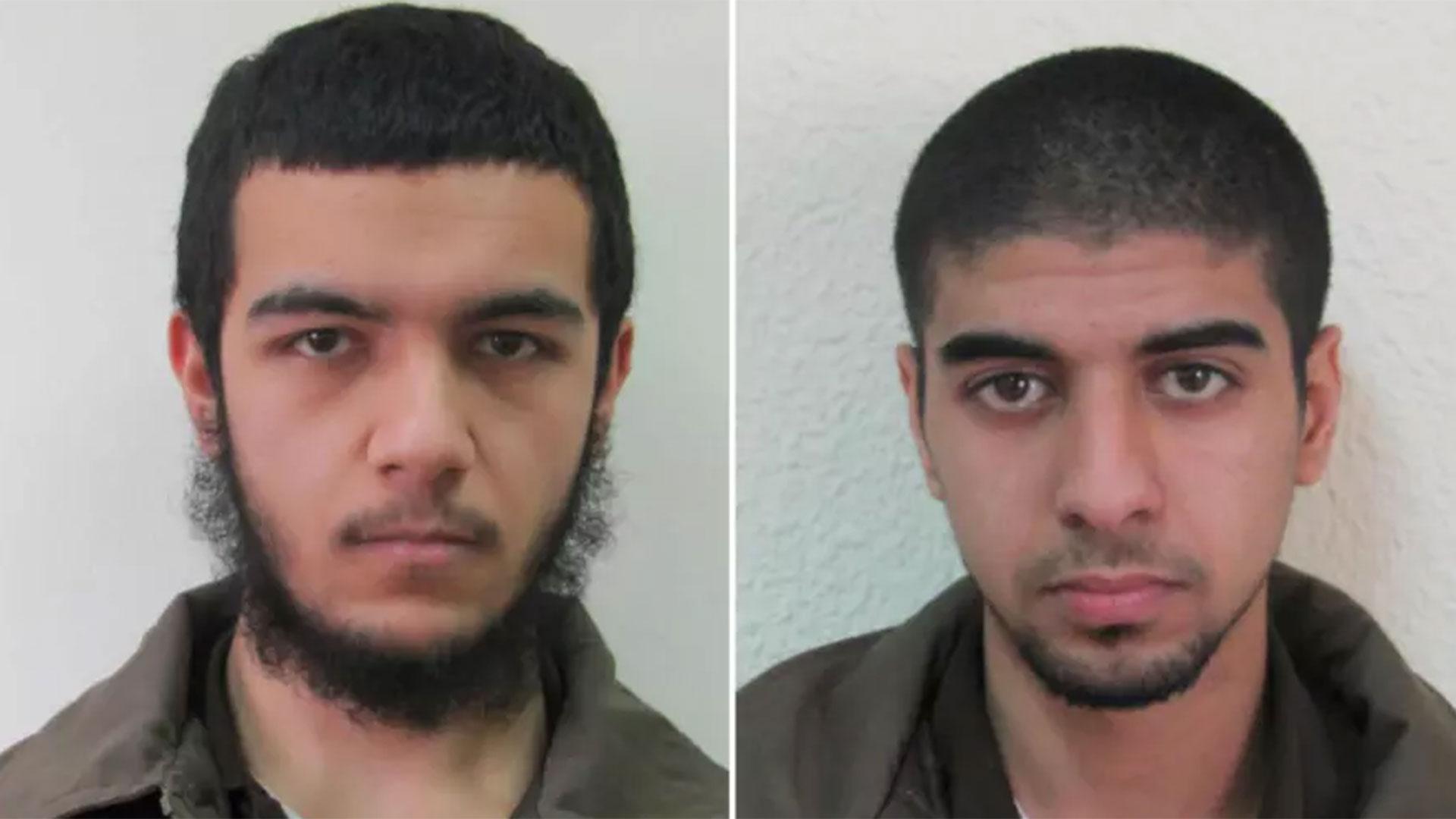 Estos son los dos terroristas mayores de edad que fueron detenidos; la identidad del menor no fue revelada