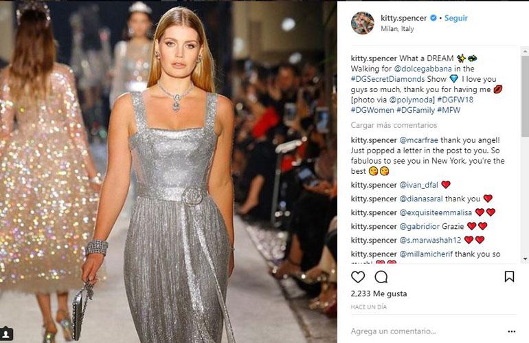La sobrina de Lady Di en la pasarela de Dolce & Gabbana