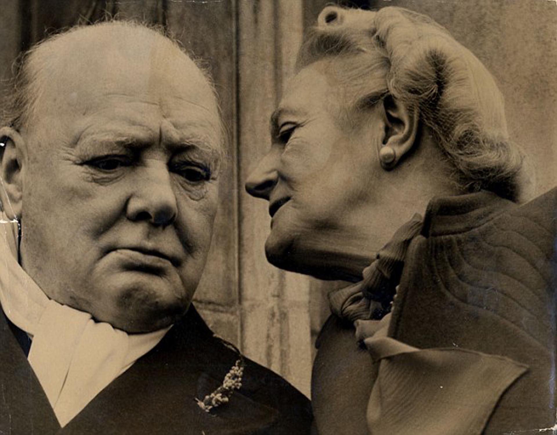 Winston Churchill y Clementine