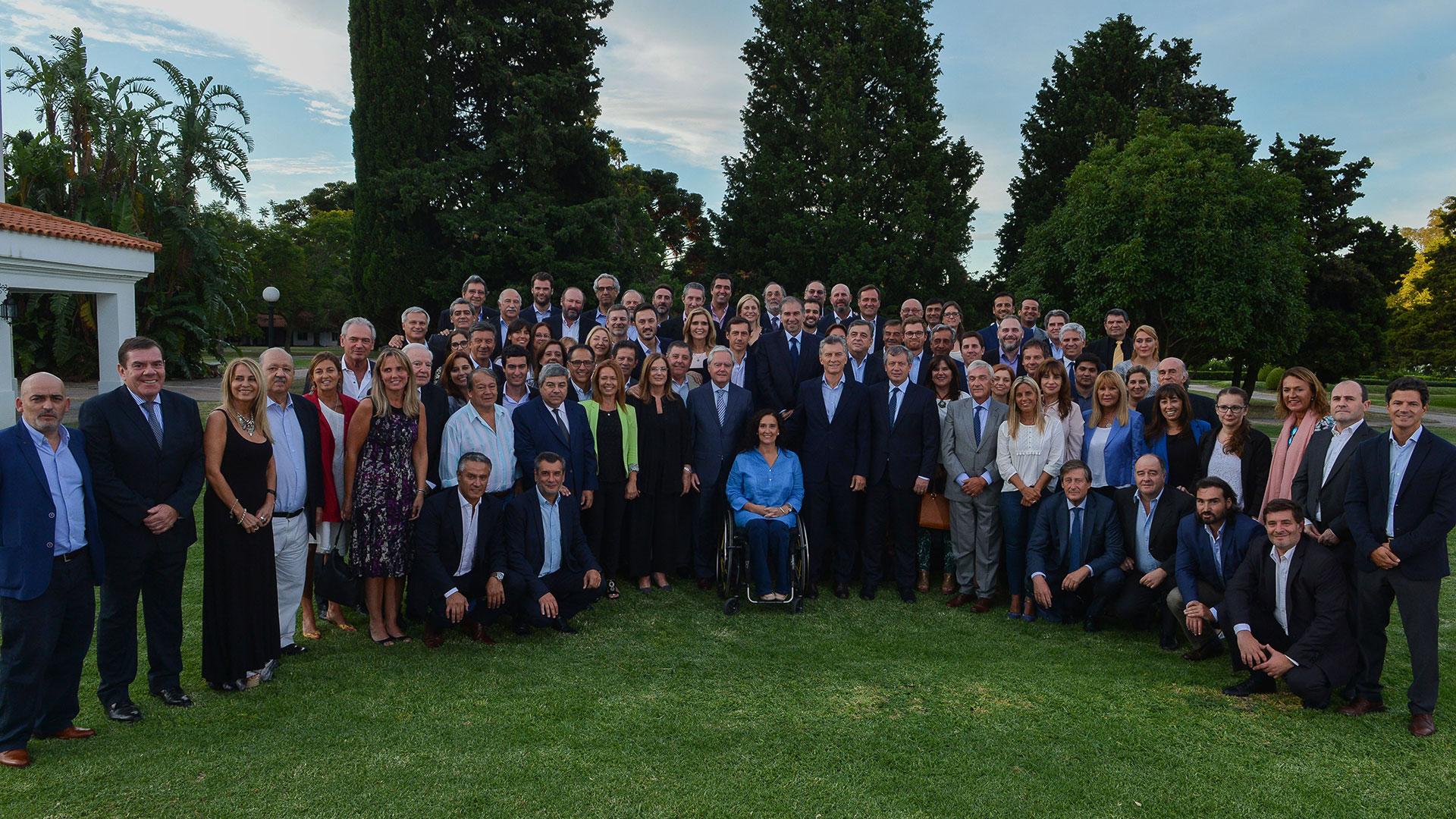 Macri en un encuentro con legisladores (Prensa Presidencia)