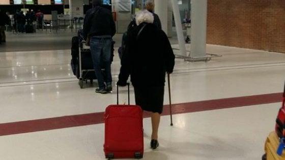 Irma en el aeropuerto de Milán