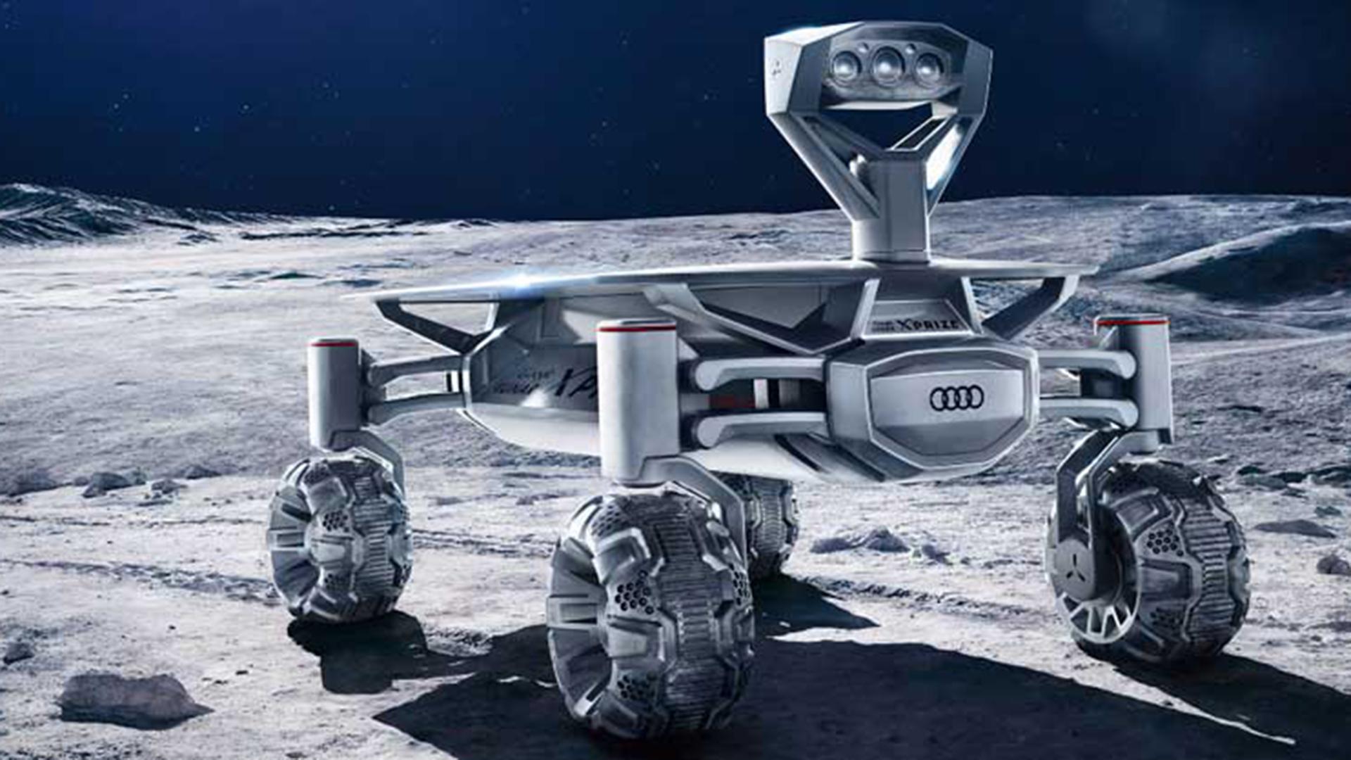 El Audi Lunar Quattro tiene cámaras multiespectrales de alta definición, cuatro ruedas, antena y transmisor LTE