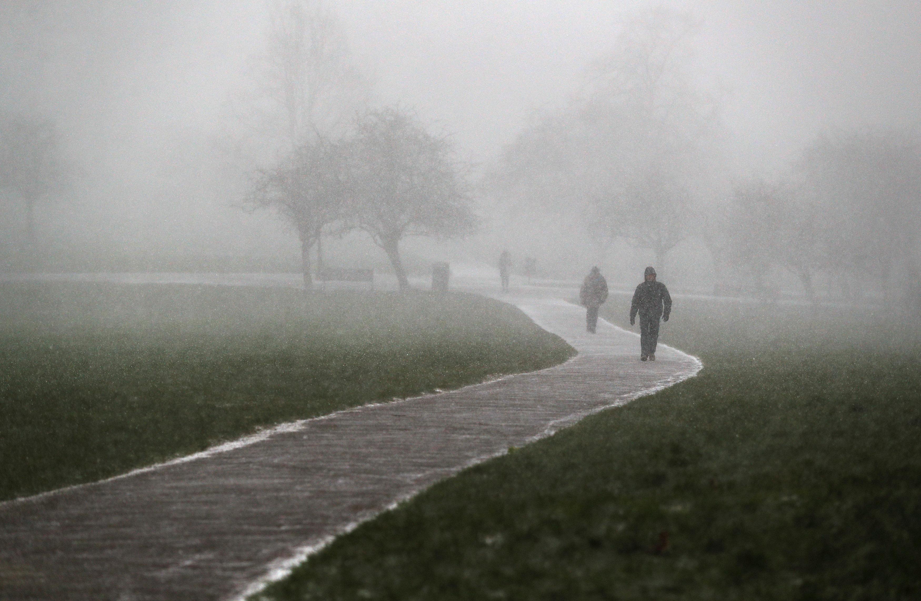 Nieve enPrimrose Hill en Londres (REUTERS/Peter Nicholls)
