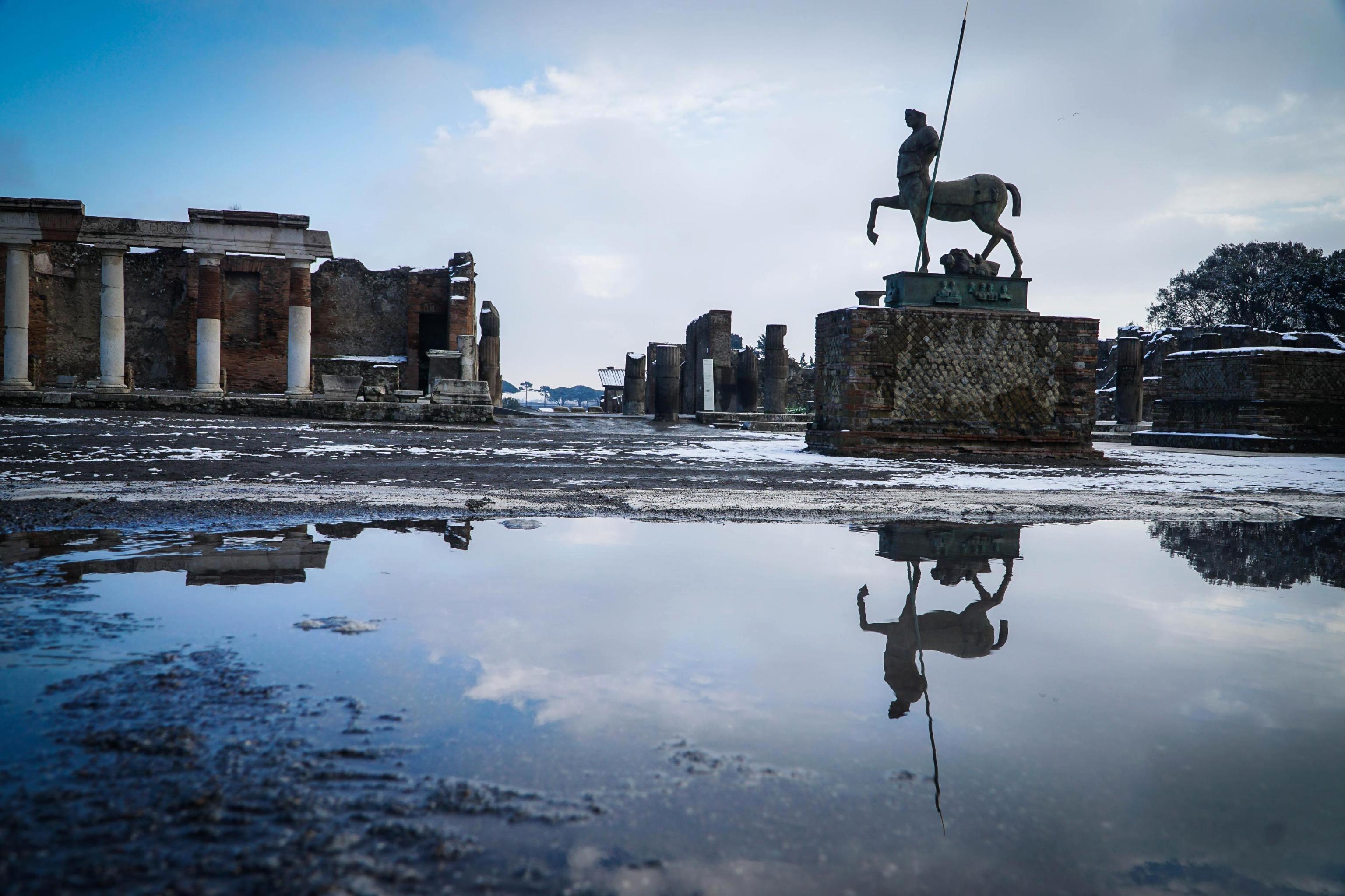 Las ruinas de Pompeya(Cesare Abbate/ANSA via AP)