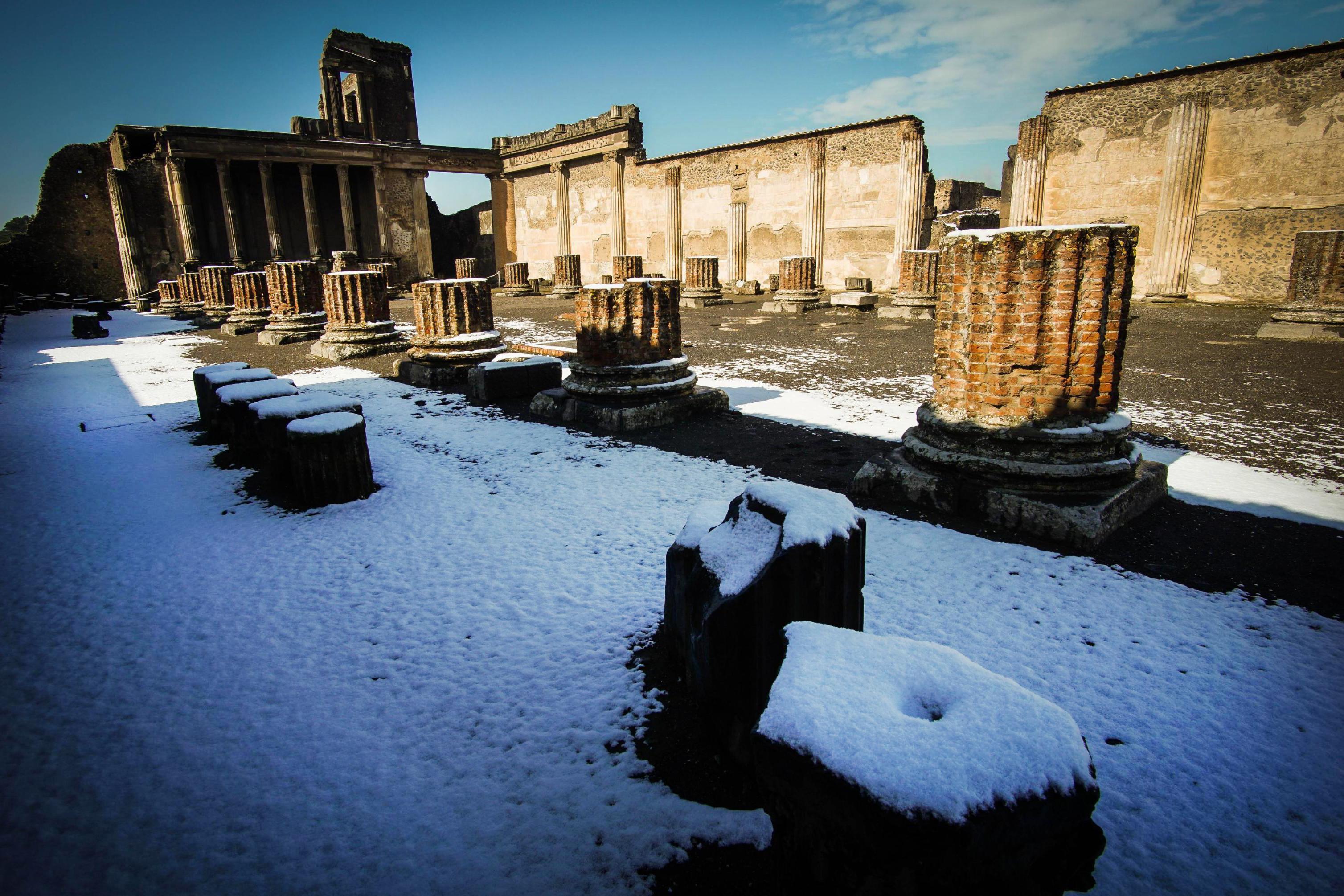 Las ruinas de Pompeya (Cesare Abbate/ANSA via AP)