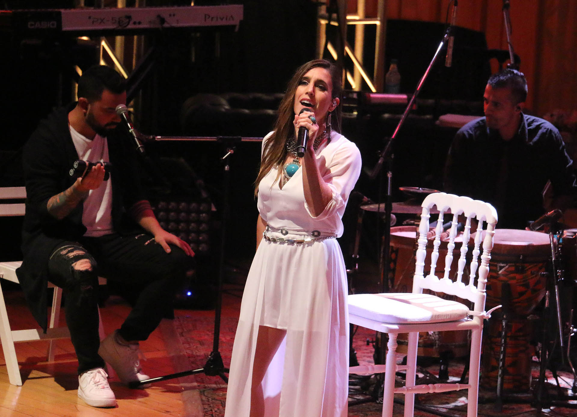 Soledad Pastorutti cantó sobre el escenario
