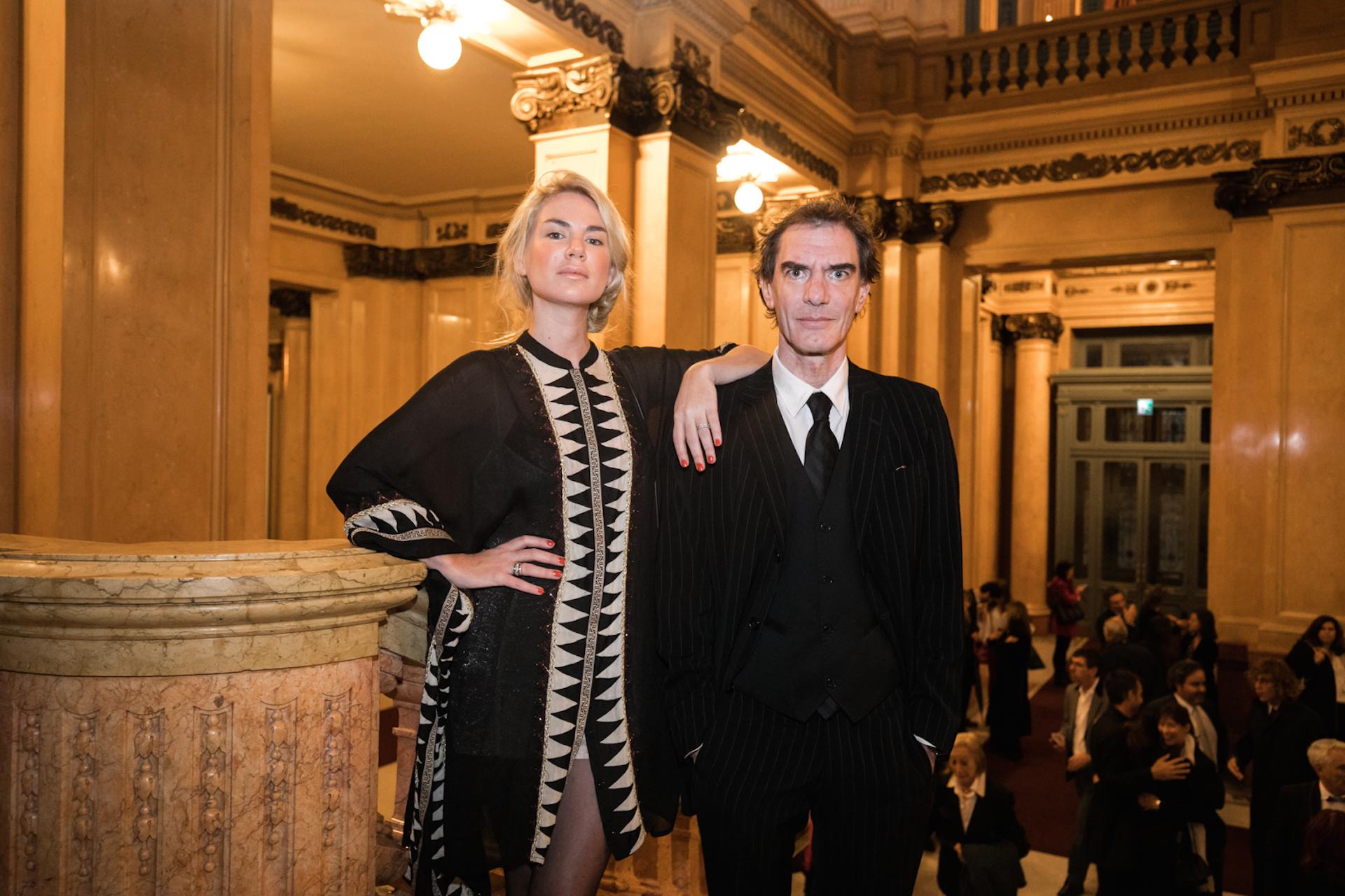 Lopérfido junto a su ex, Esmeralda Mitre, en abril del 2017 en el Teatro Colón (Foto Archivo GENTE)