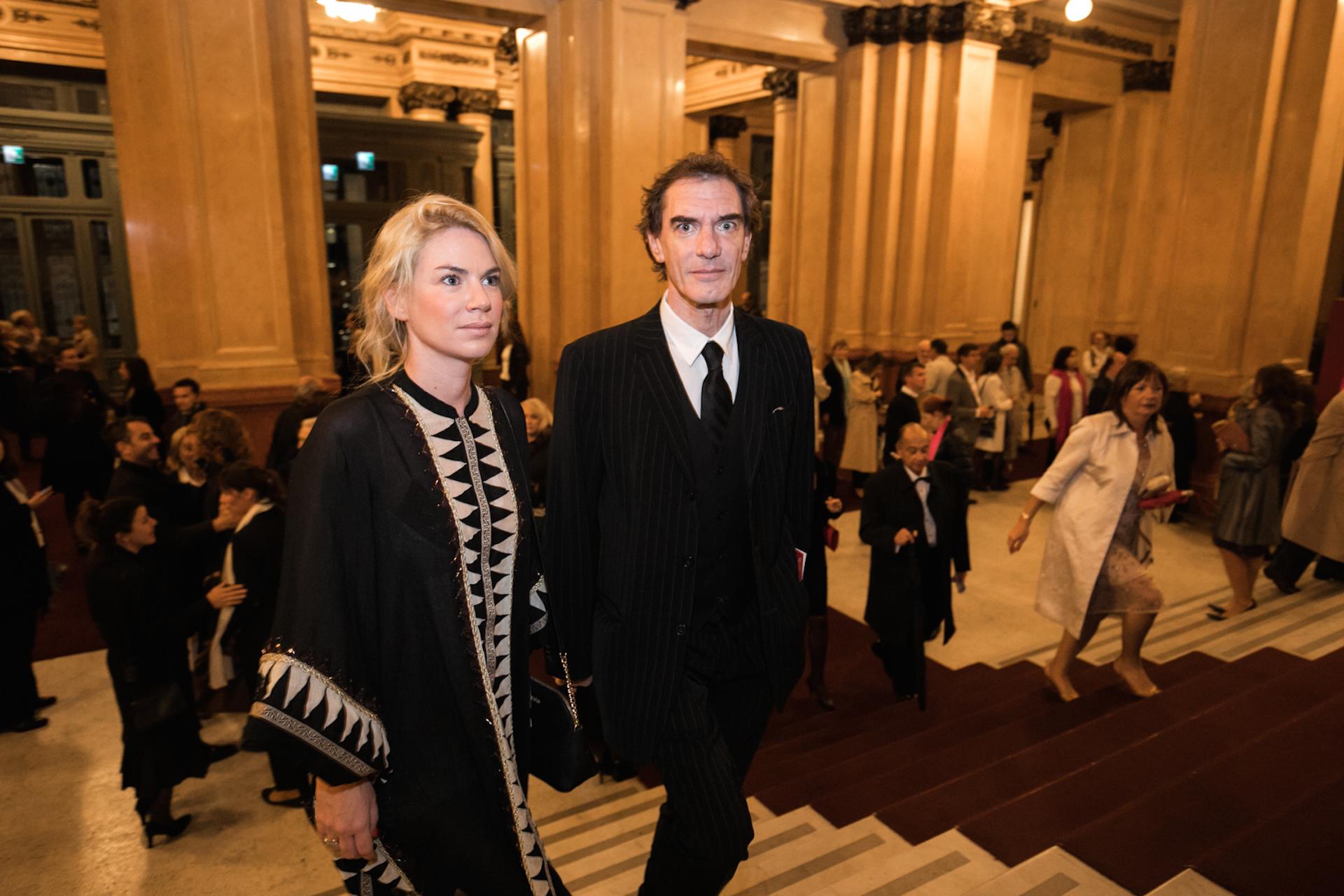 Esmeralda Mitre y Dario Loperfido en abril del 2017 en el teatro Colón. (Foto Archivo GENTE)